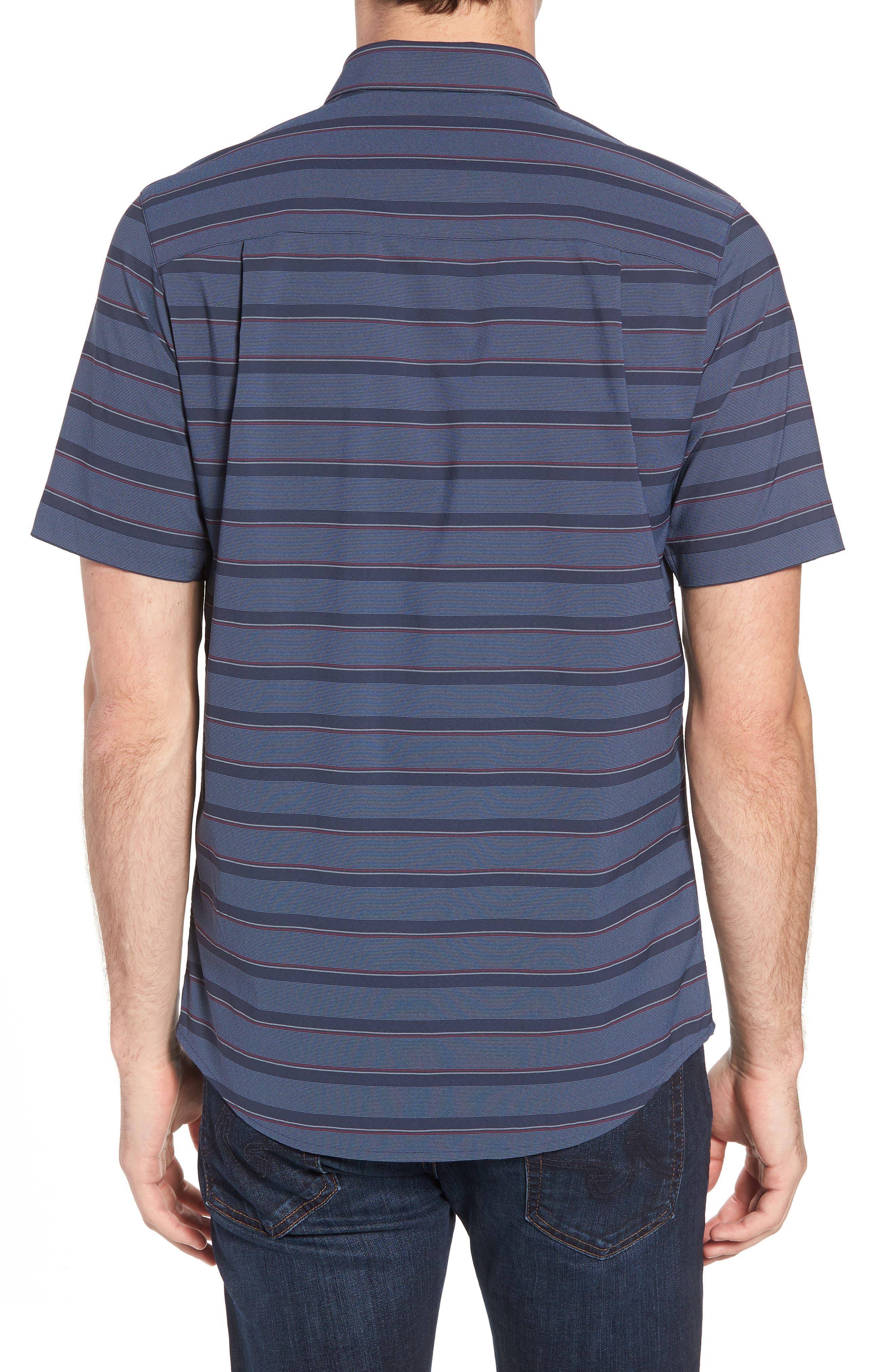 Quiver Regular Fit Sport Shirt,                             Alternate thumbnail 3, color,                             Blue Nights