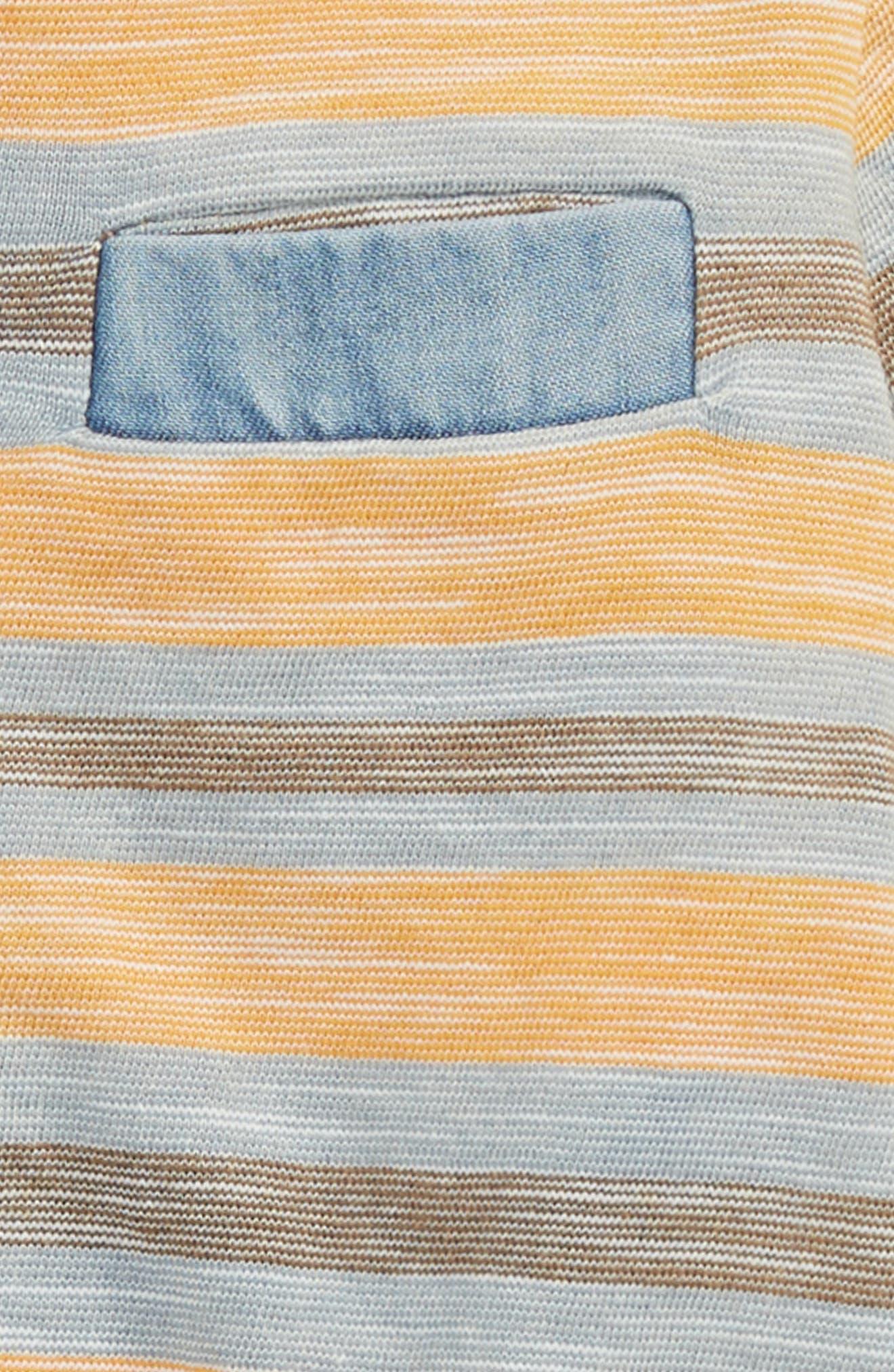Reverse Stripe Henley,                             Alternate thumbnail 2, color,                             Orange Glaze- Blue Stripe
