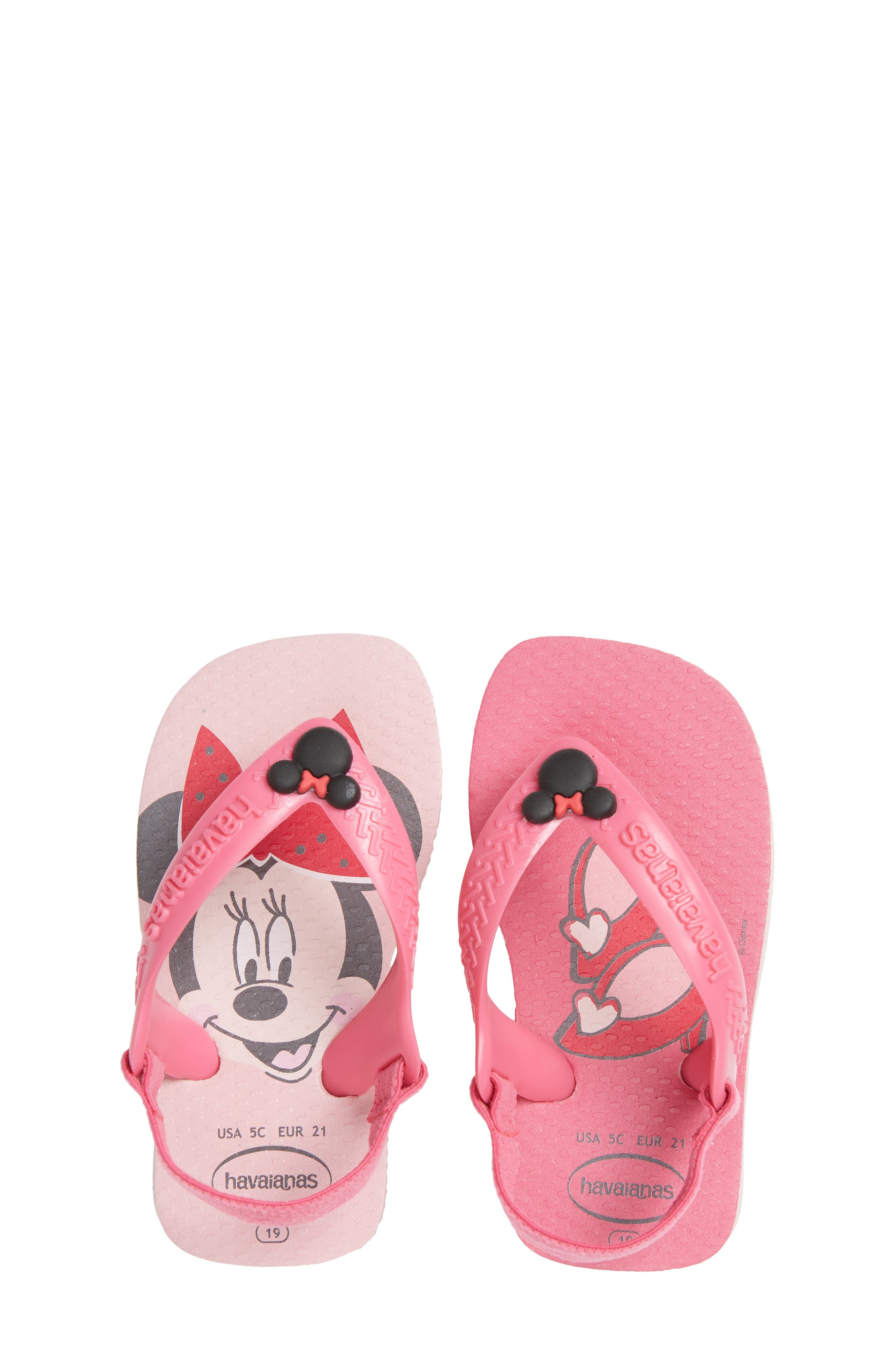 Baby Disney Classics Flip Flop,                             Main thumbnail 1, color,                             Pearl Pink