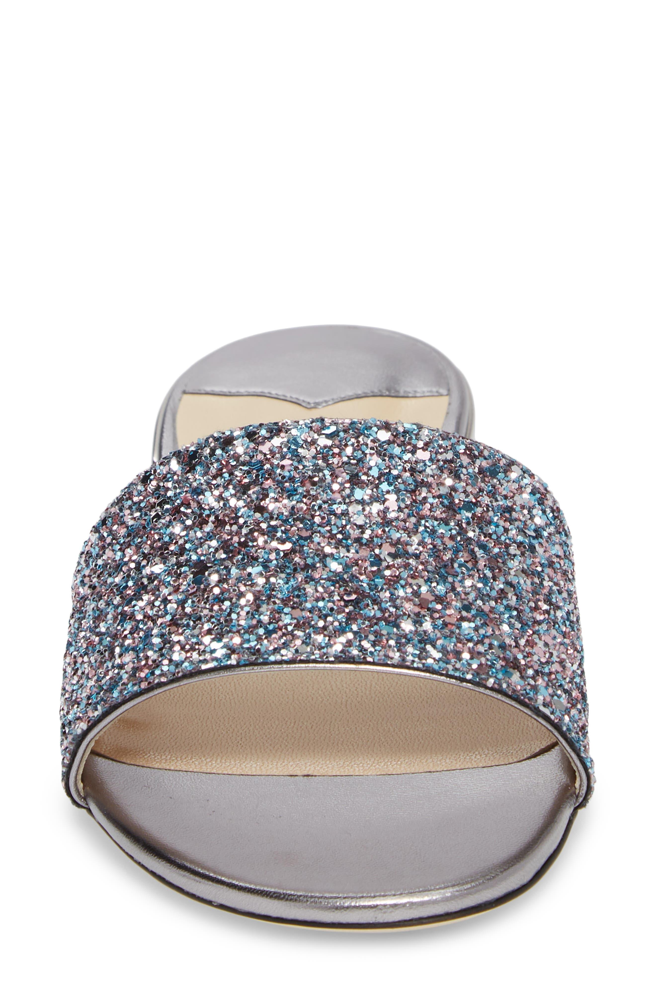 Joni Embellished Slide Sandal,                             Alternate thumbnail 4, color,                             Blush Silver
