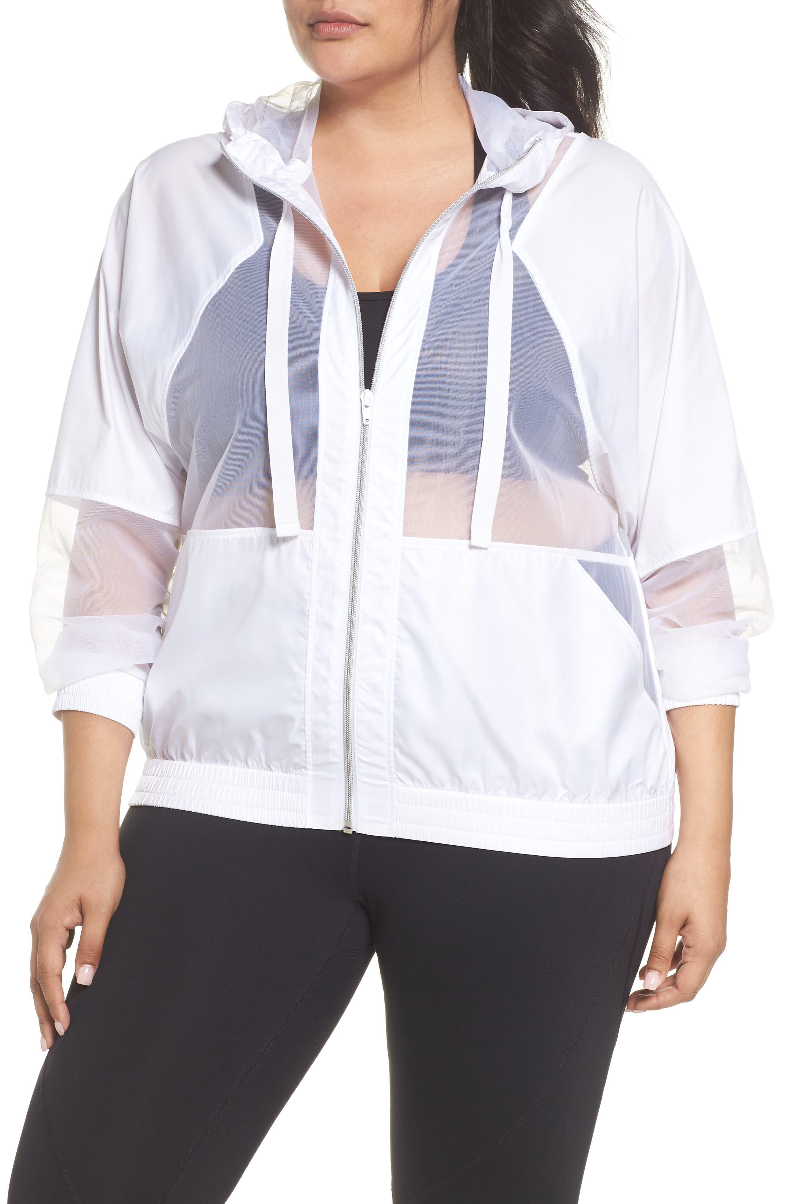 Sheer Mix Jacket,                             Main thumbnail 1, color,                             White