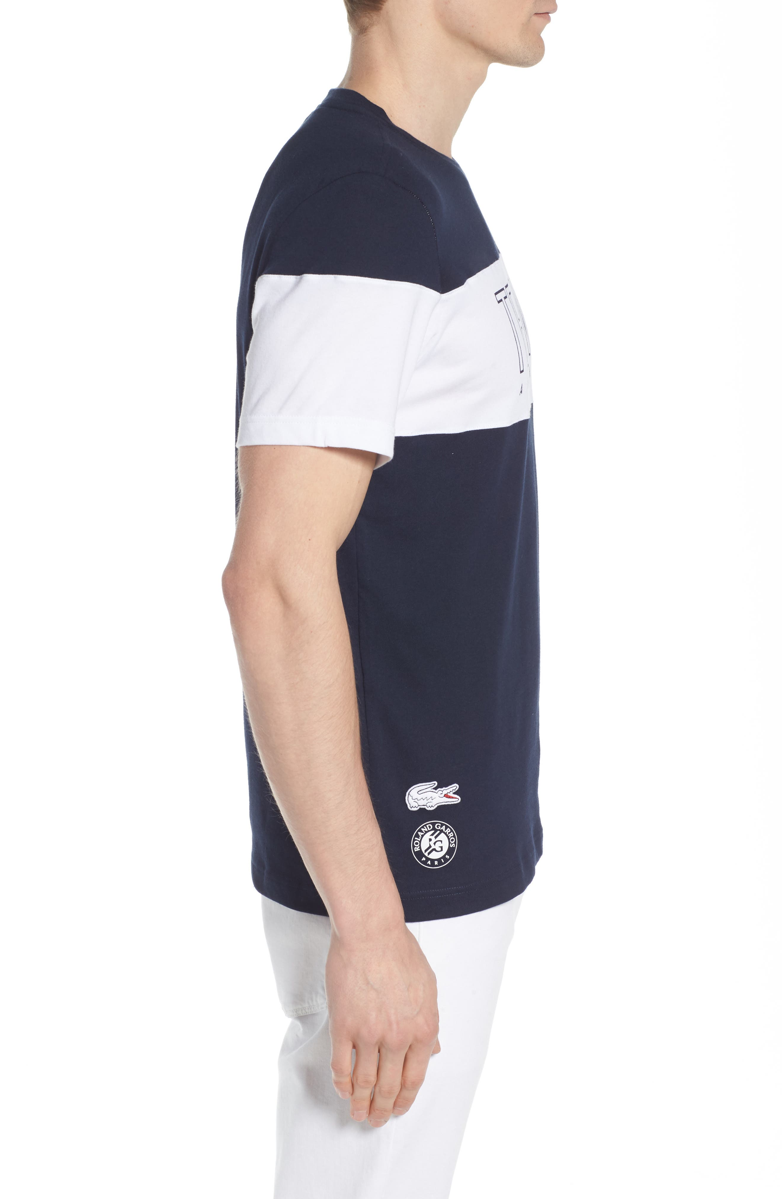 Tennis Anyone Tech Jersey T-Shirt,                             Alternate thumbnail 3, color,                             Navy Blue/ White