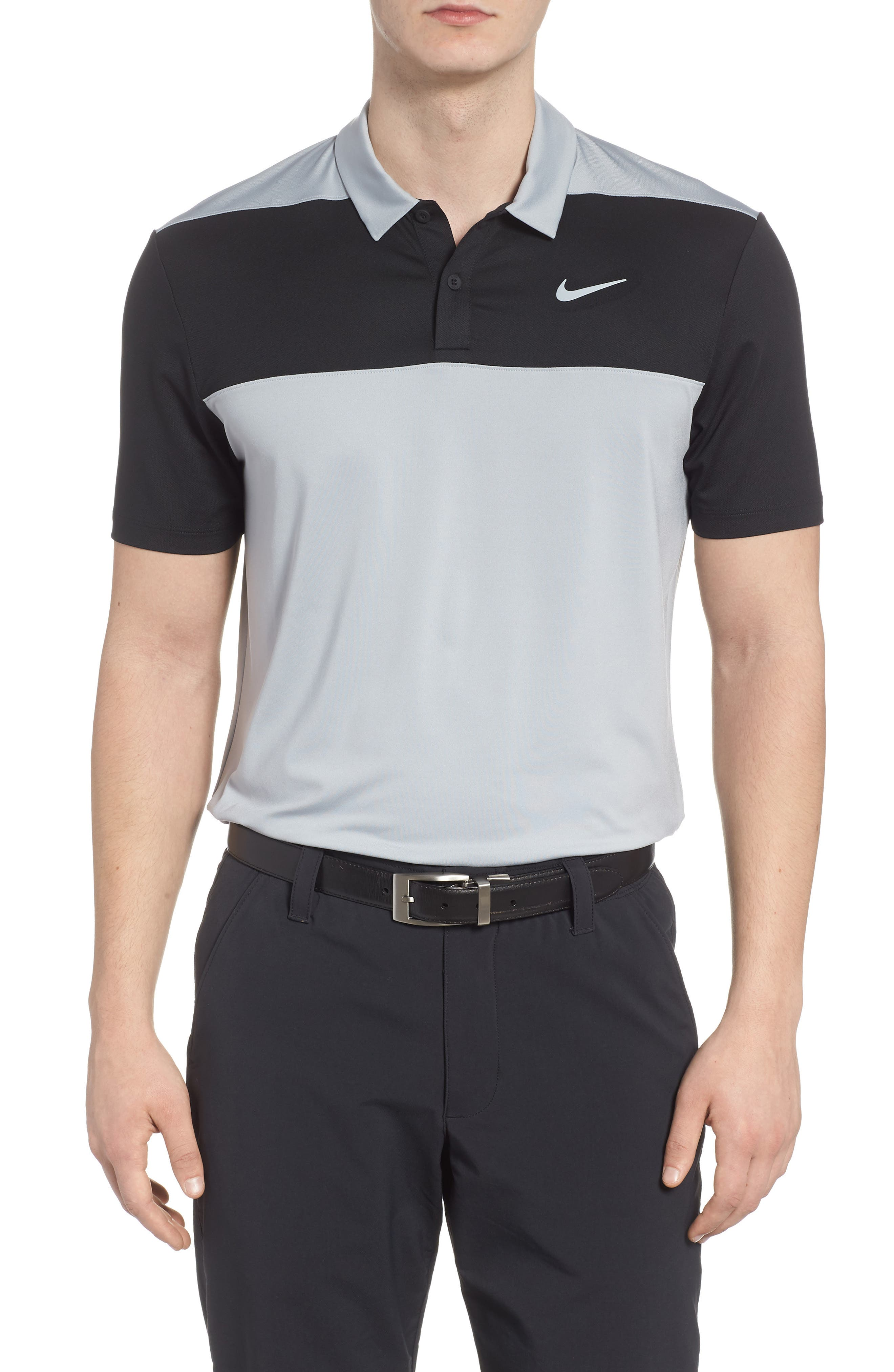 Golf Dry Color Polo,                         Main,                         color, Wolf Grey/ Black/ Cool Grey