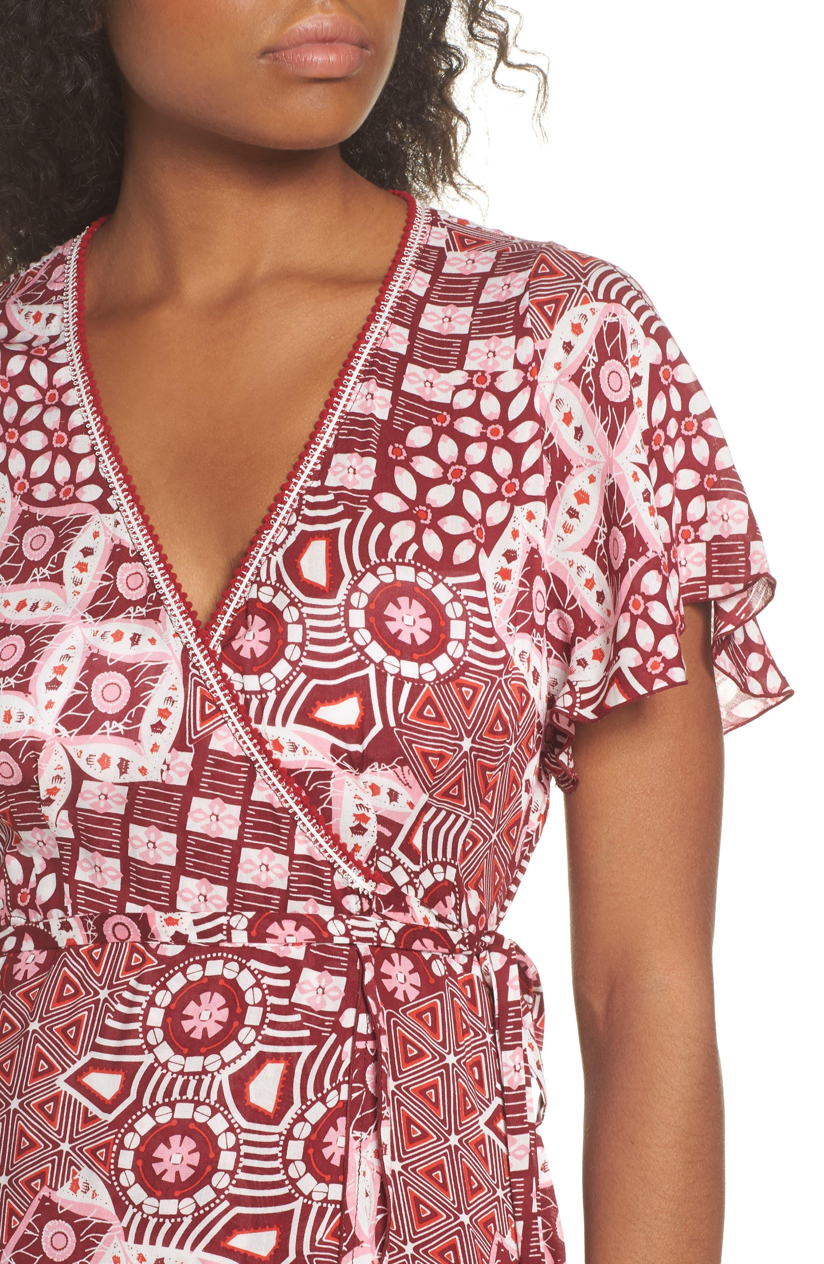 Poupette St. Barth Joe Cover-Up Maxi Dress,                             Alternate thumbnail 4, color,                             Pink Mali