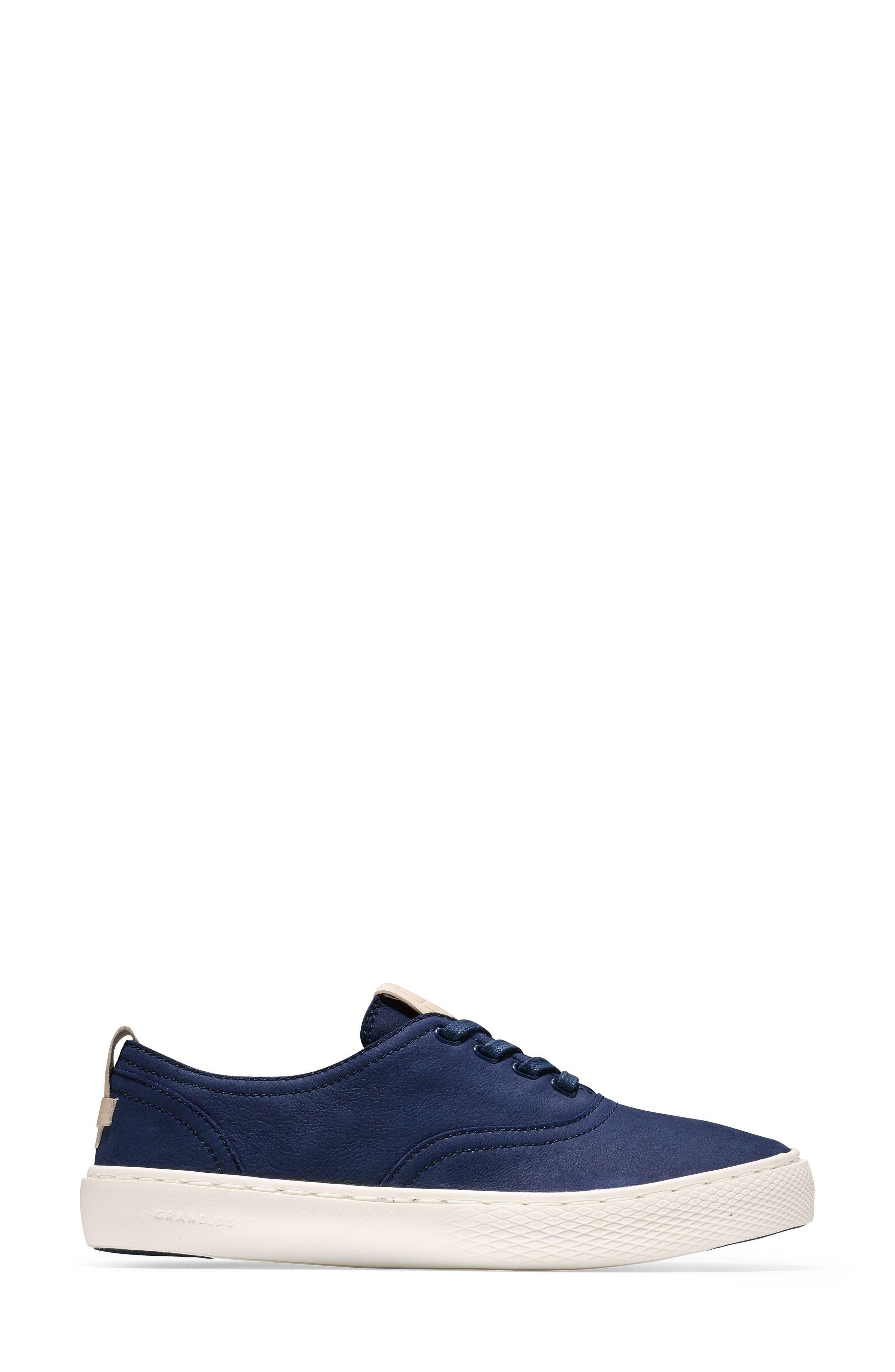 GrandPro Deck Sneaker,                             Alternate thumbnail 3, color,                             Blue/ White Nubuck