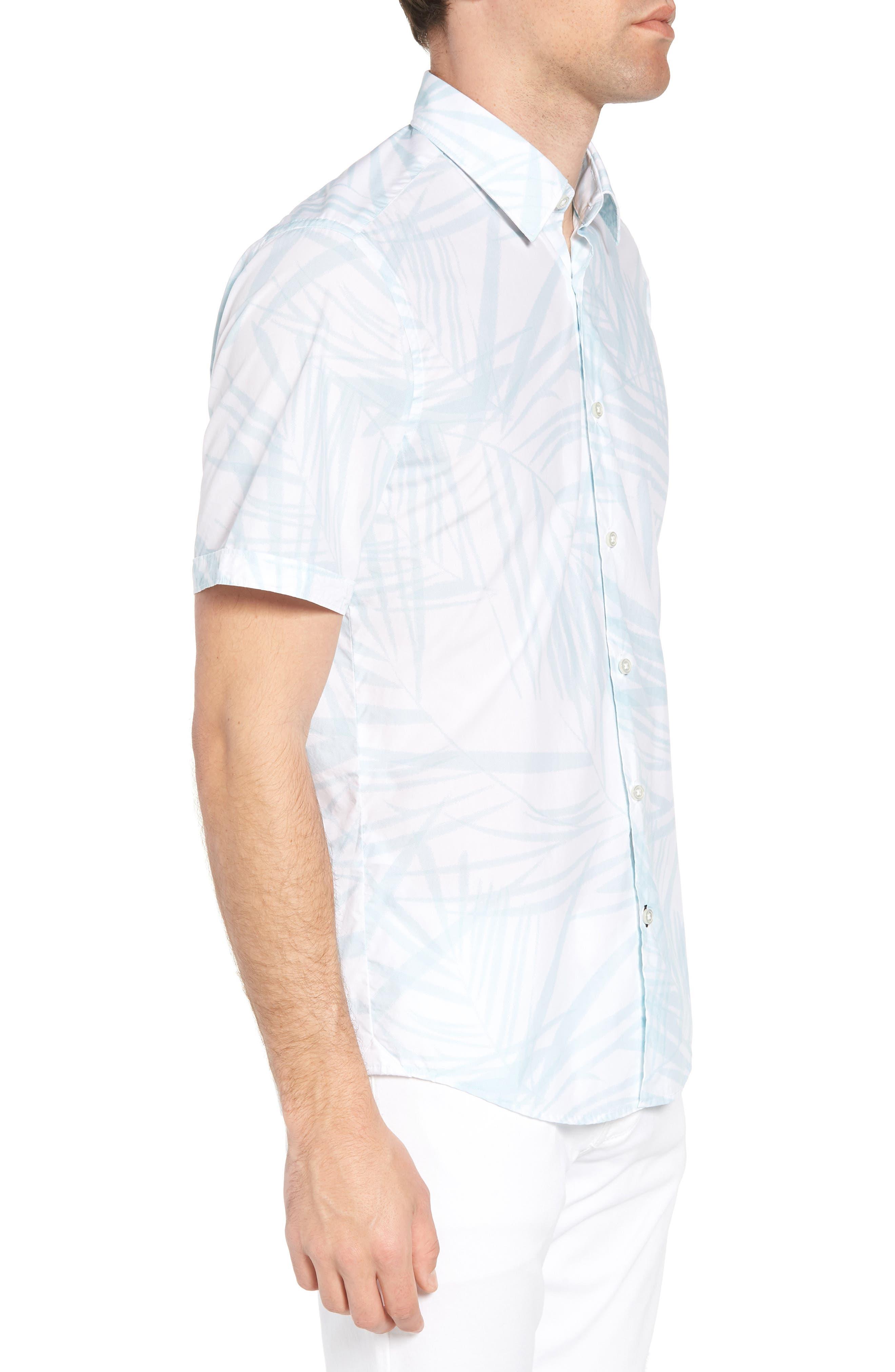 Luka Regular Fit Short Sleeve Sport Shirt,                             Alternate thumbnail 4, color,                             Blue