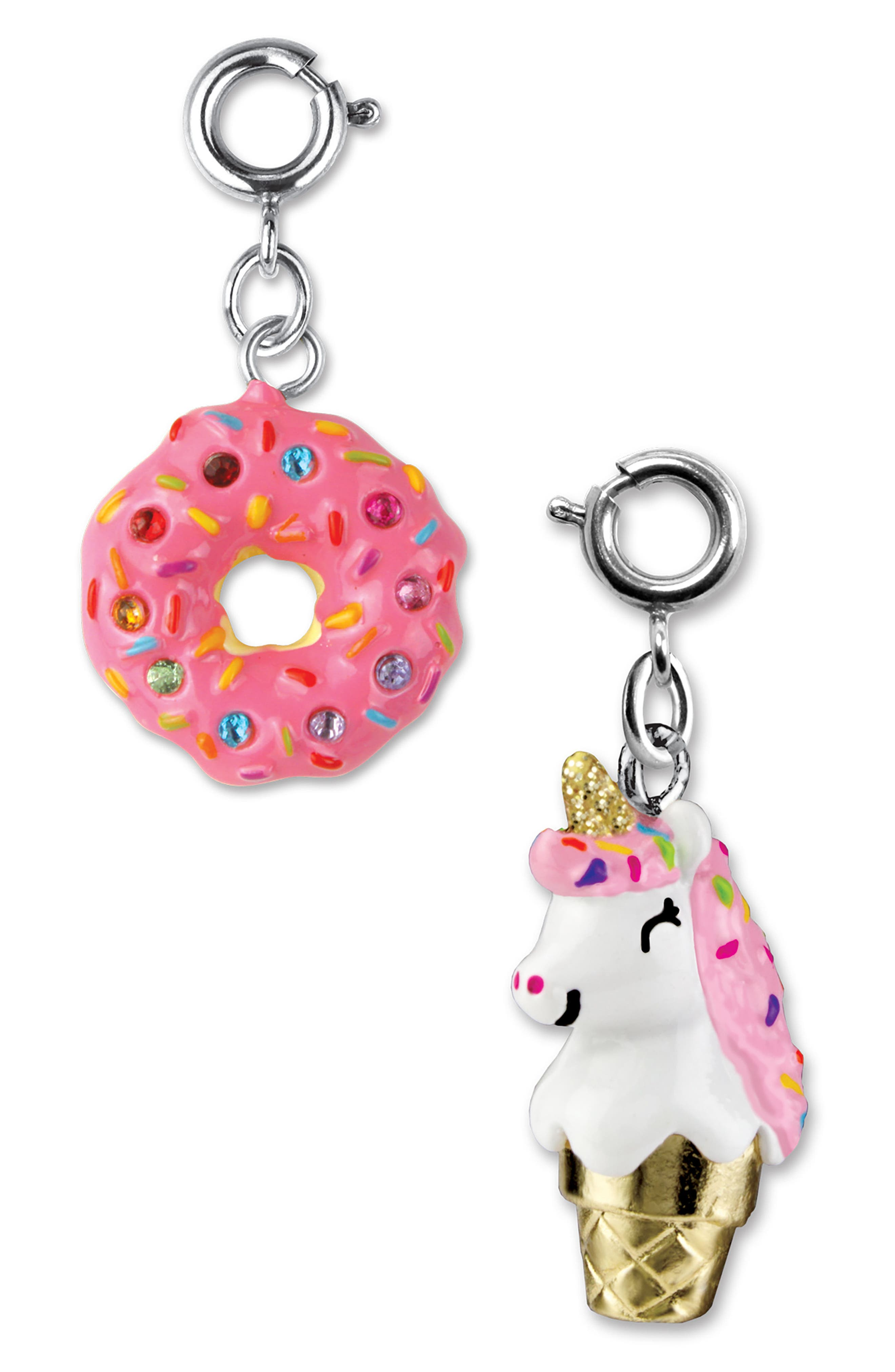 CHARM IT!<sup>®</sup> 2-Pack Donut & Unicone Charms,                             Alternate thumbnail 2, color,                             Multi