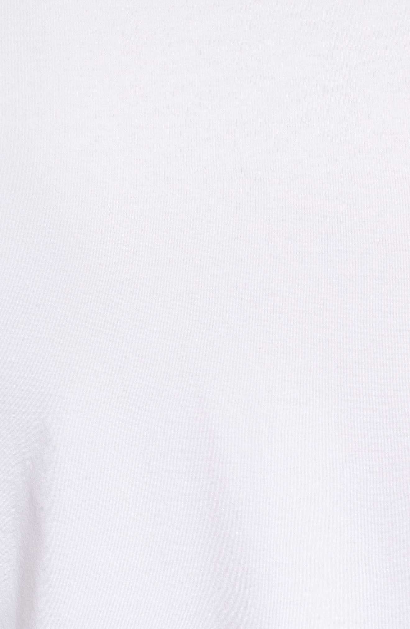 Perpetual Crewneck T-Shirt,                             Alternate thumbnail 5, color,                             White/ White