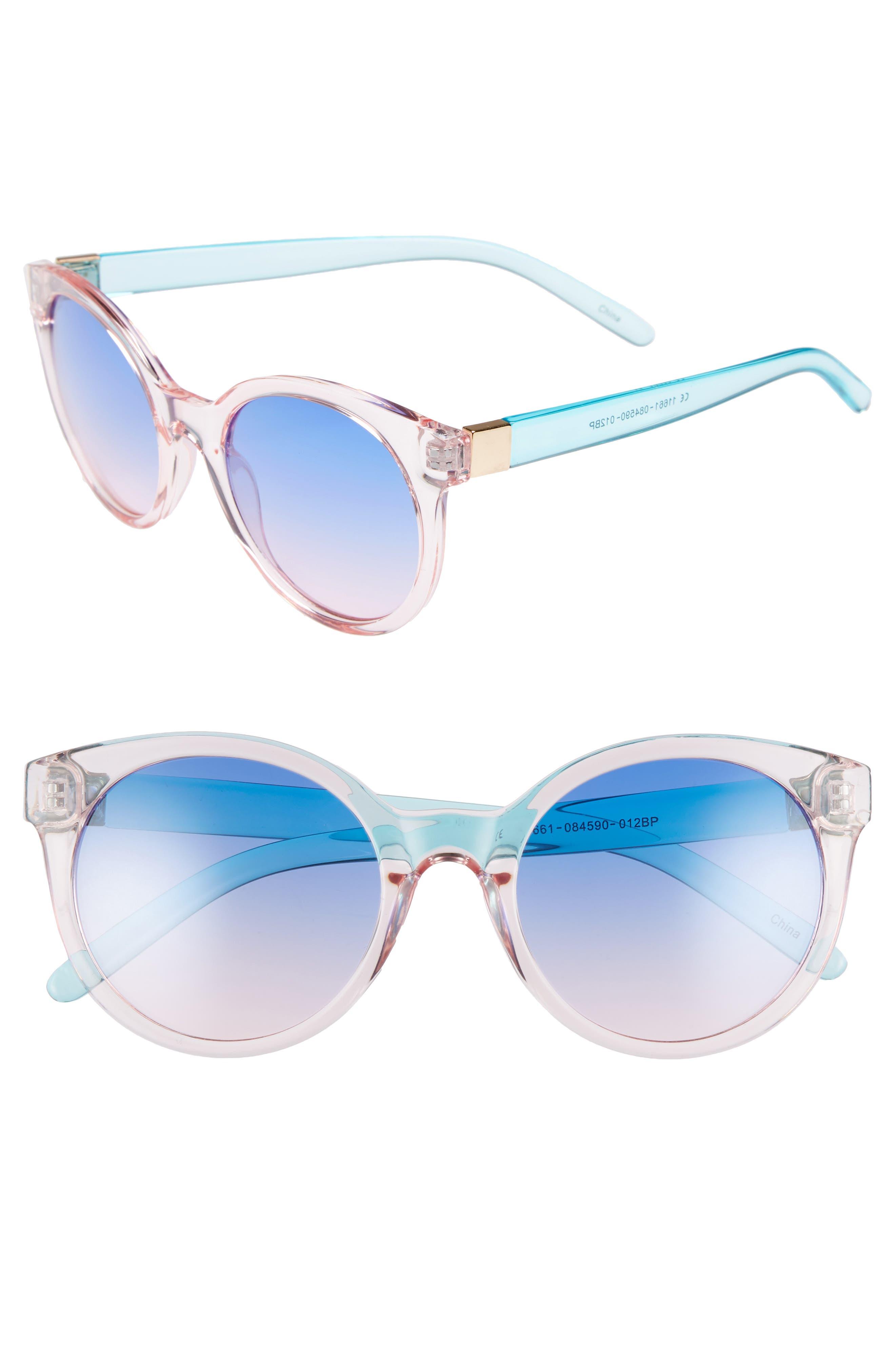 Transparent Round Sunglasses,                             Main thumbnail 1, color,                             Multi