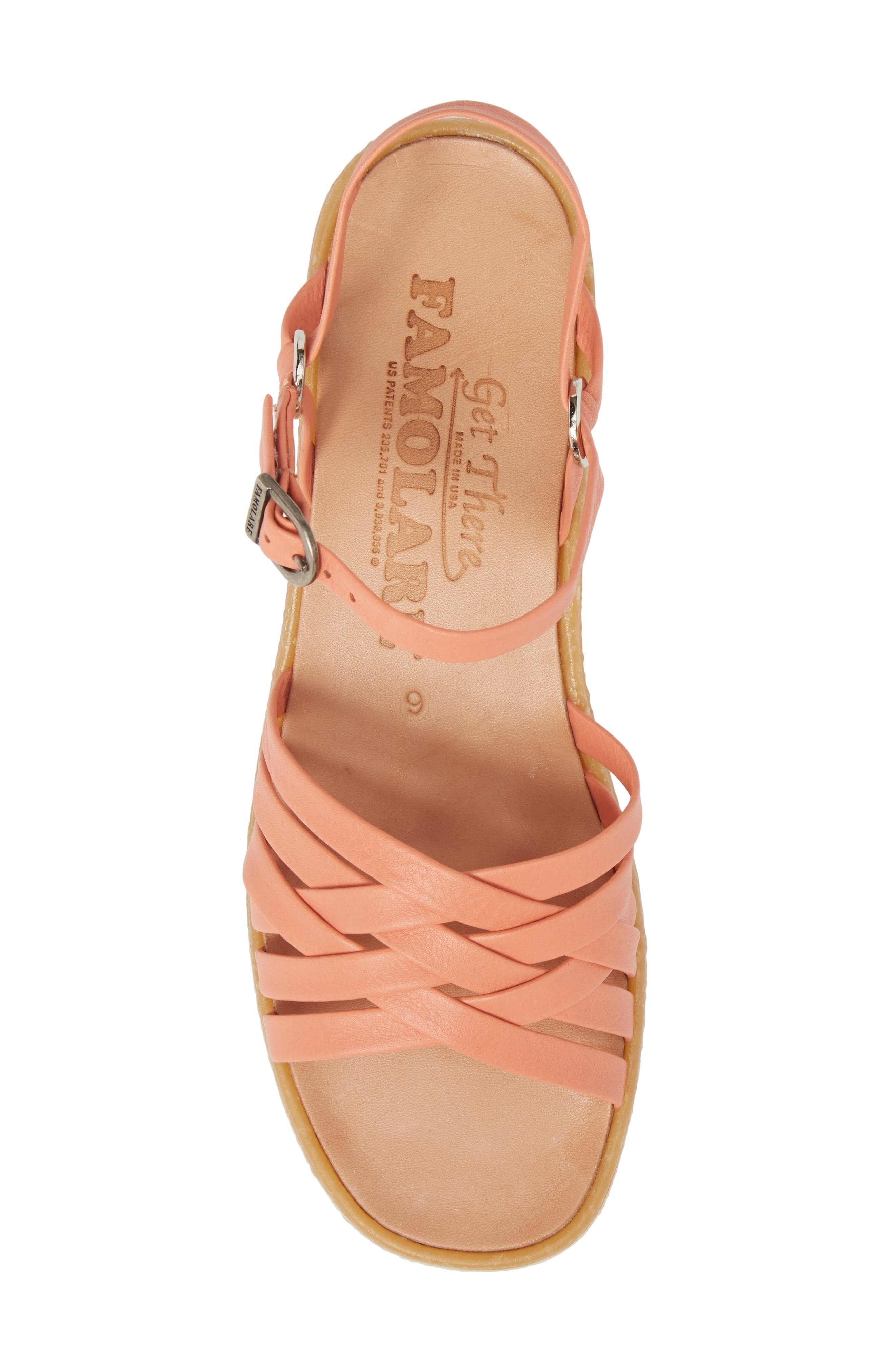 Strappy Camper Sandal,                             Alternate thumbnail 5, color,                             Salmon Leather