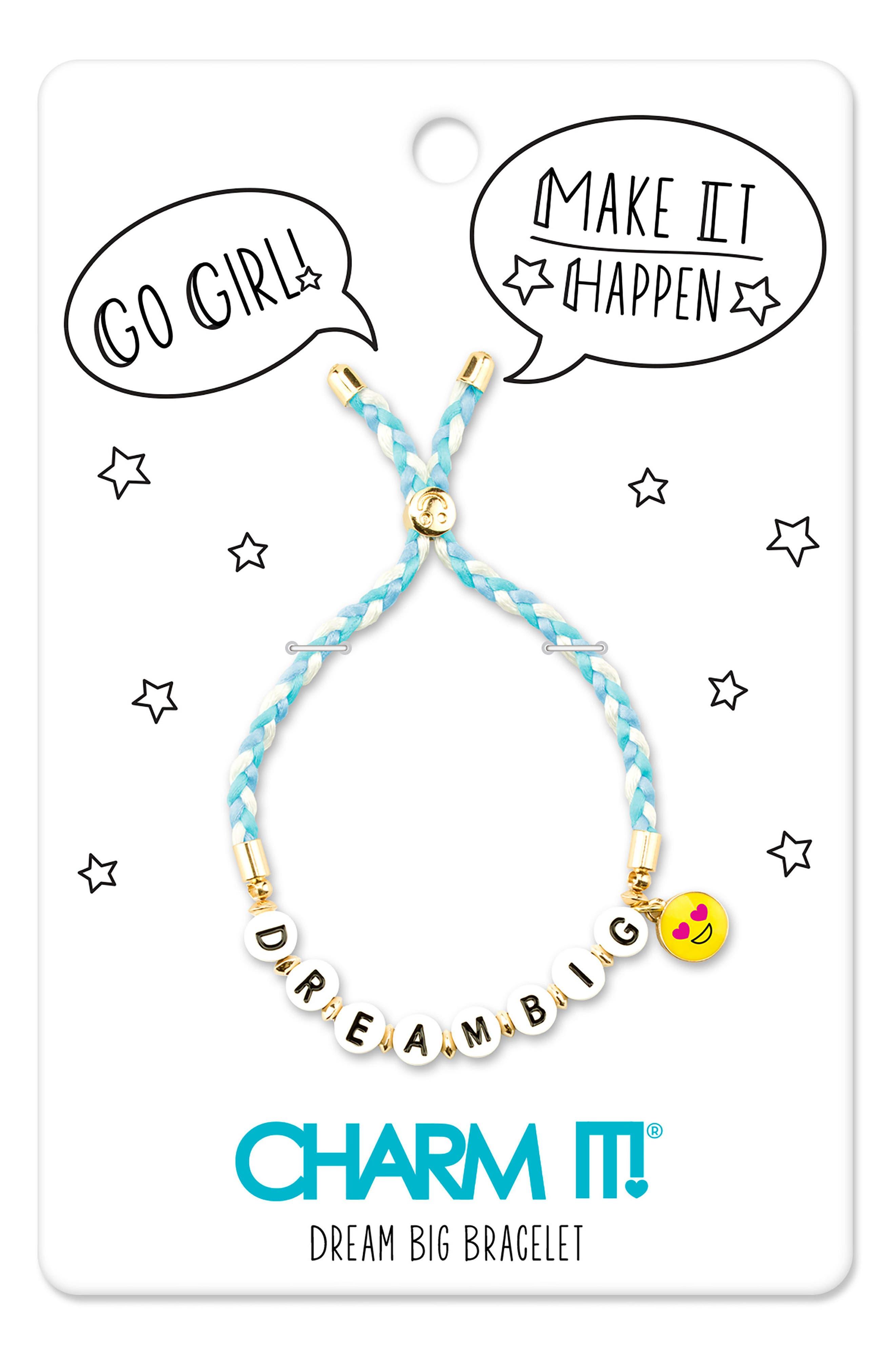 CHARM IT!<sup>®</sup> Dream Big Emoji Bracelet,                             Alternate thumbnail 3, color,                             Multi