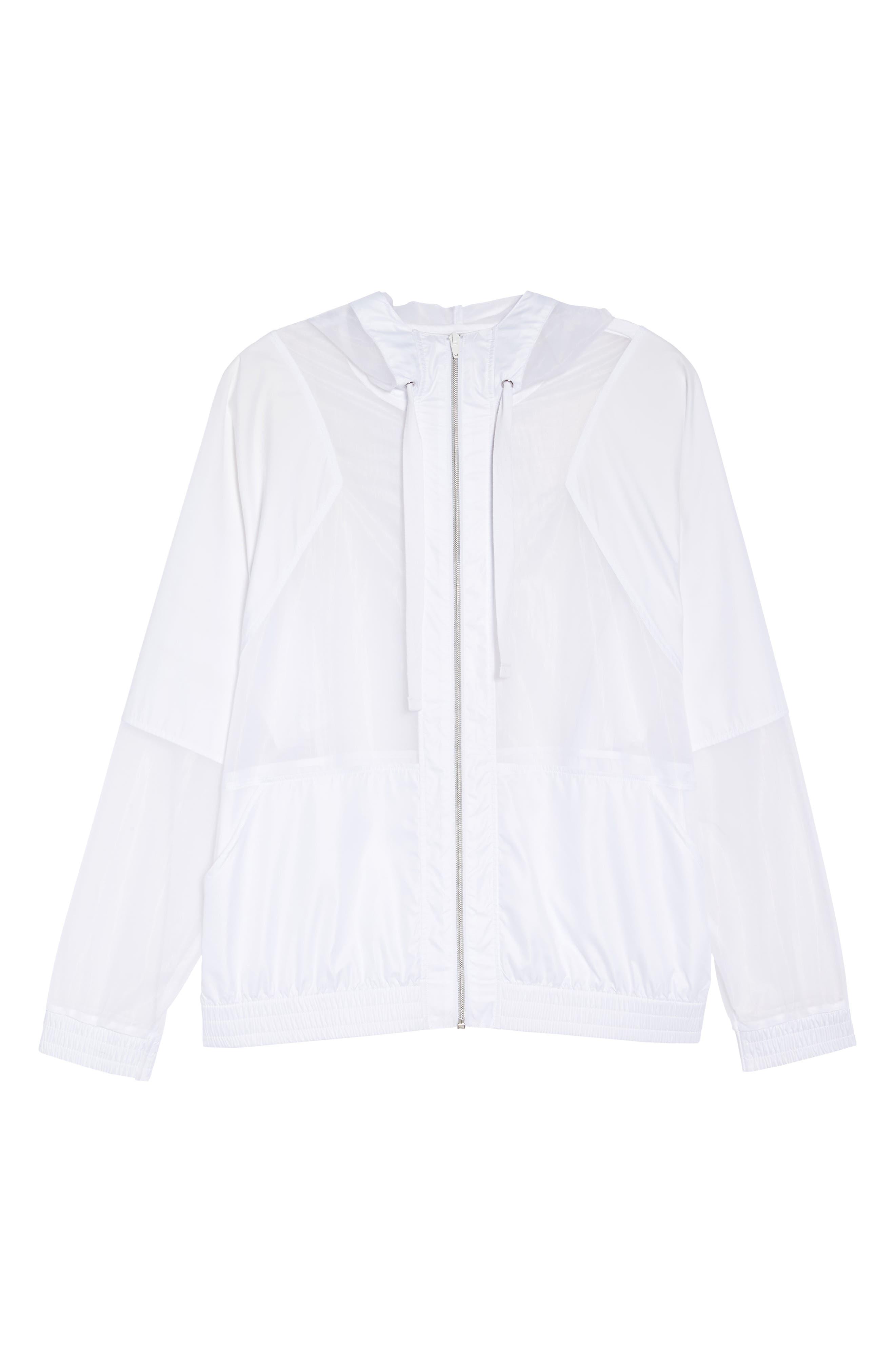 Sheer Mix Jacket,                             Alternate thumbnail 7, color,                             White