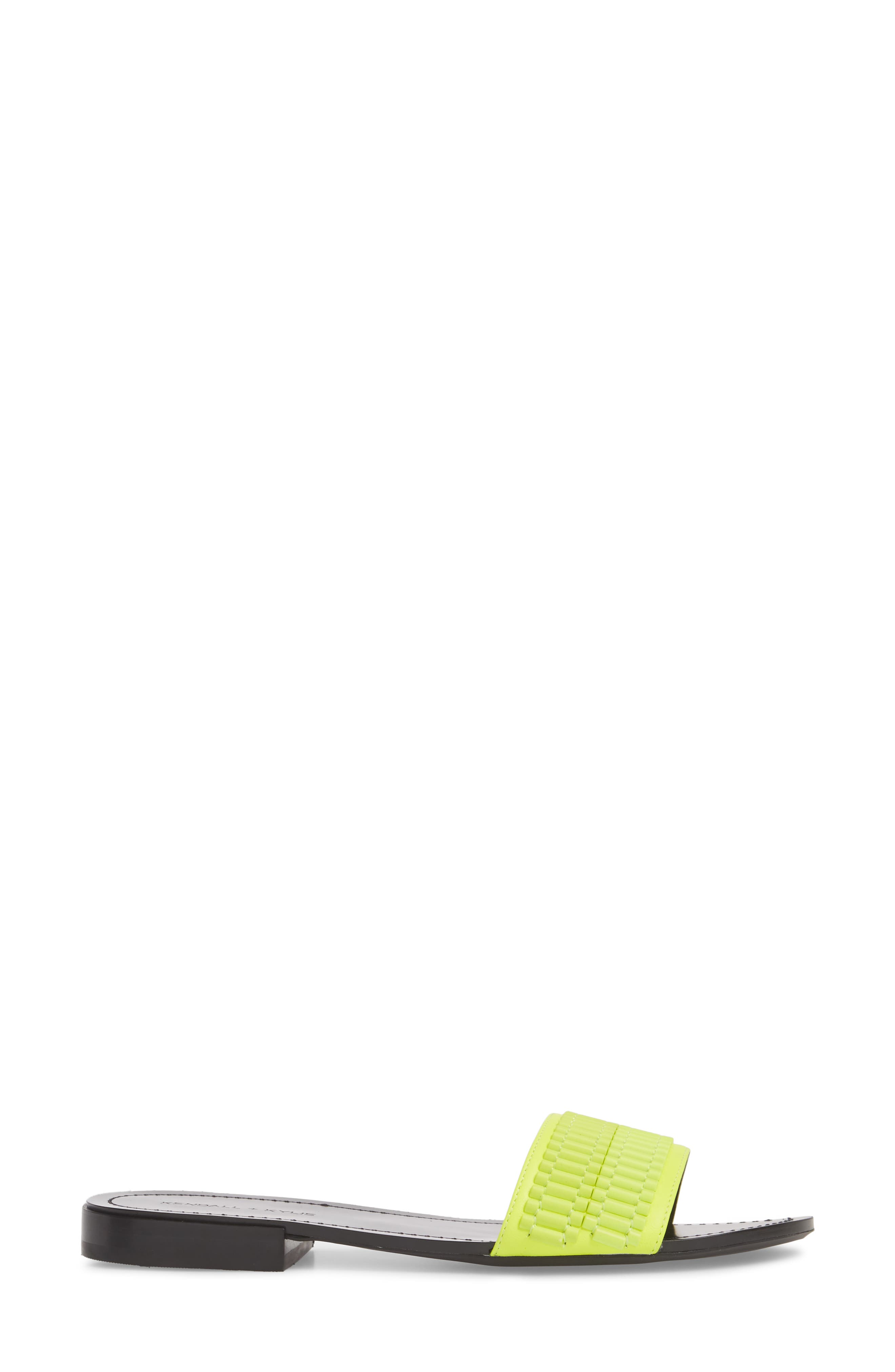 Kennedy Slide Sandal,                             Alternate thumbnail 3, color,                             Fluorescent Yellow/ Yellow