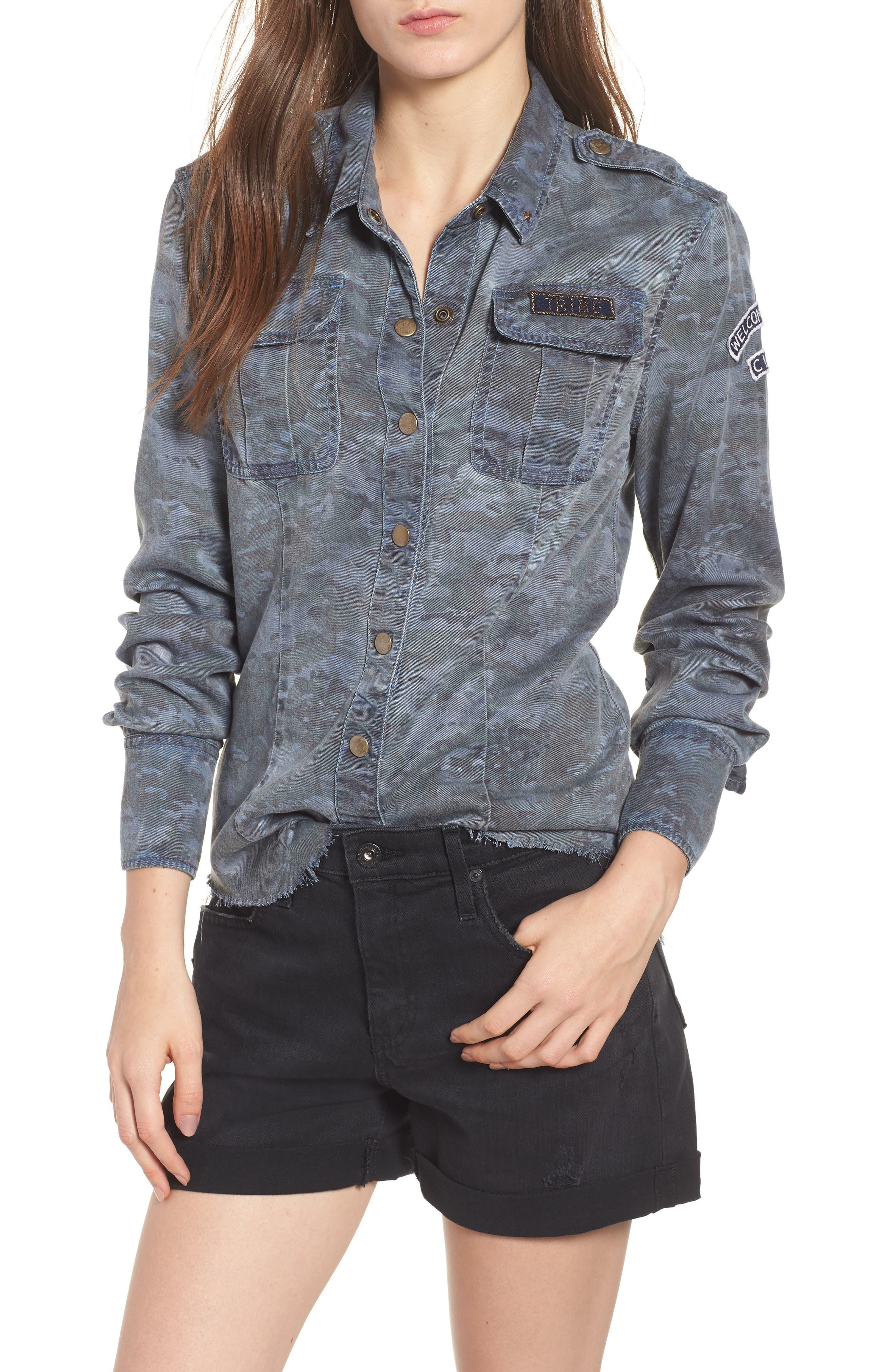 Pam & Gela Camo Shirt