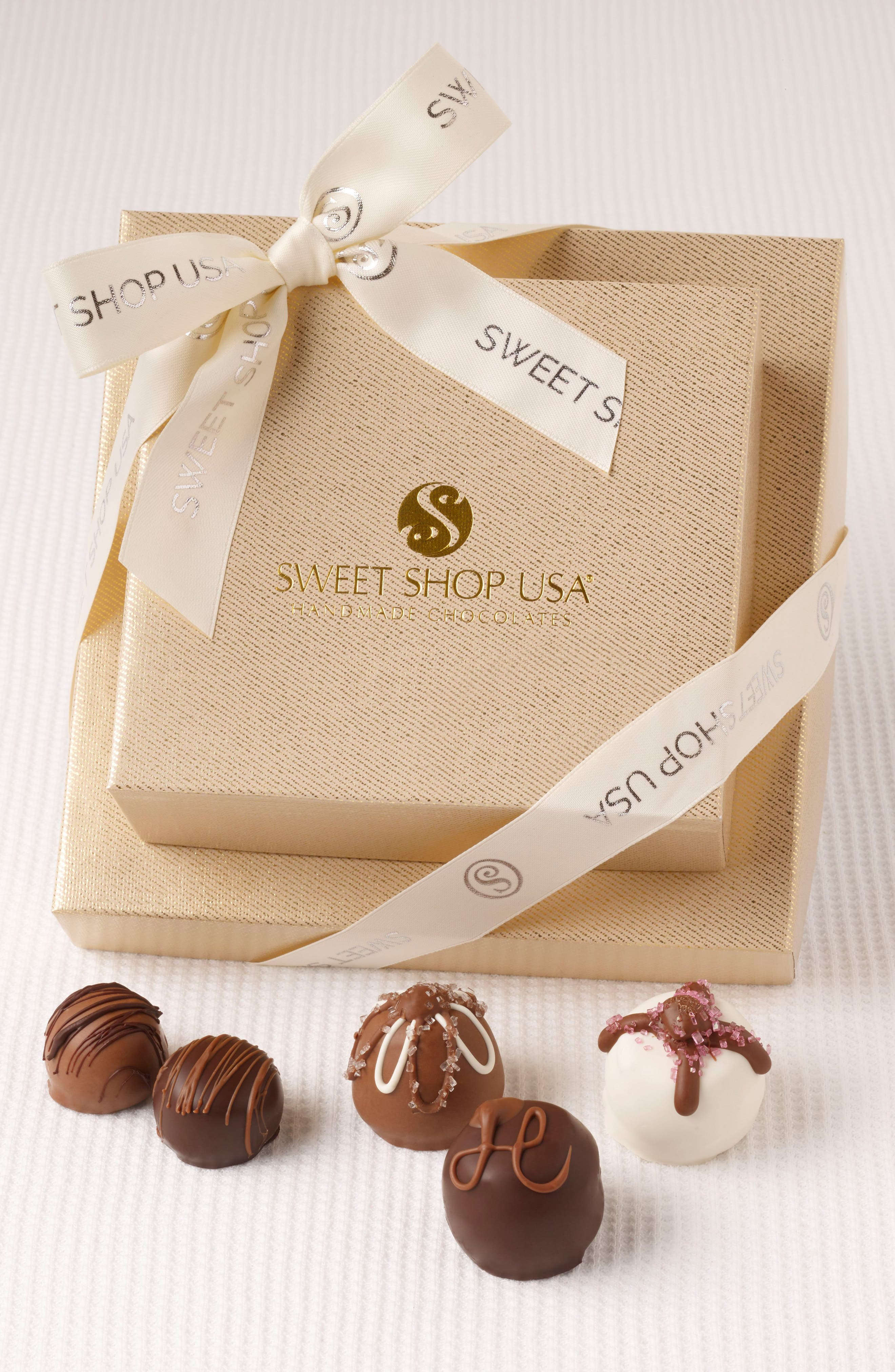 14-Piece Assorted Chocolates Everyday Box,                             Main thumbnail 1, color,                             Gold