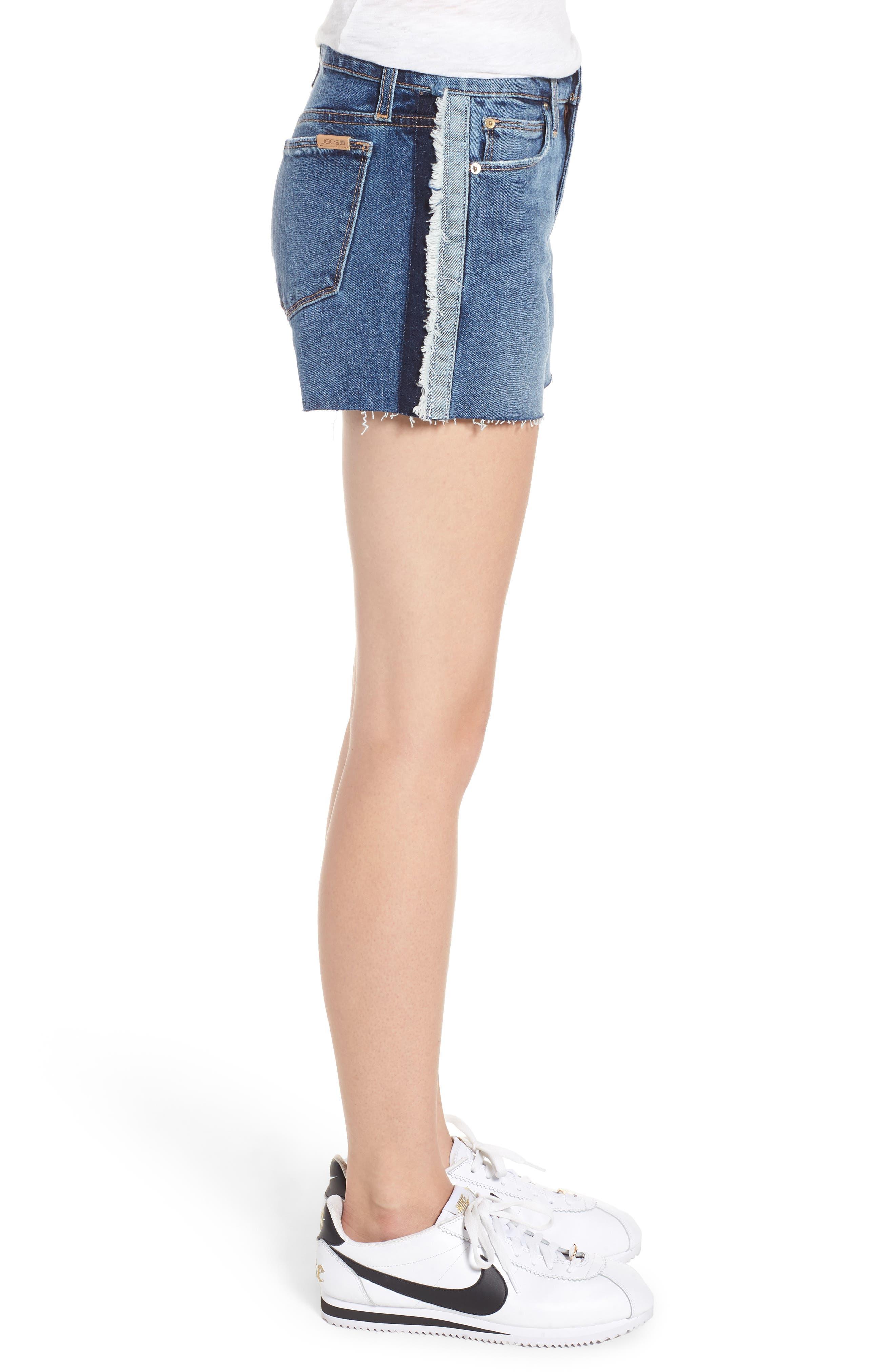 Ozzie Side Stripe Cutoff Shorts,                             Alternate thumbnail 3, color,                             Madera