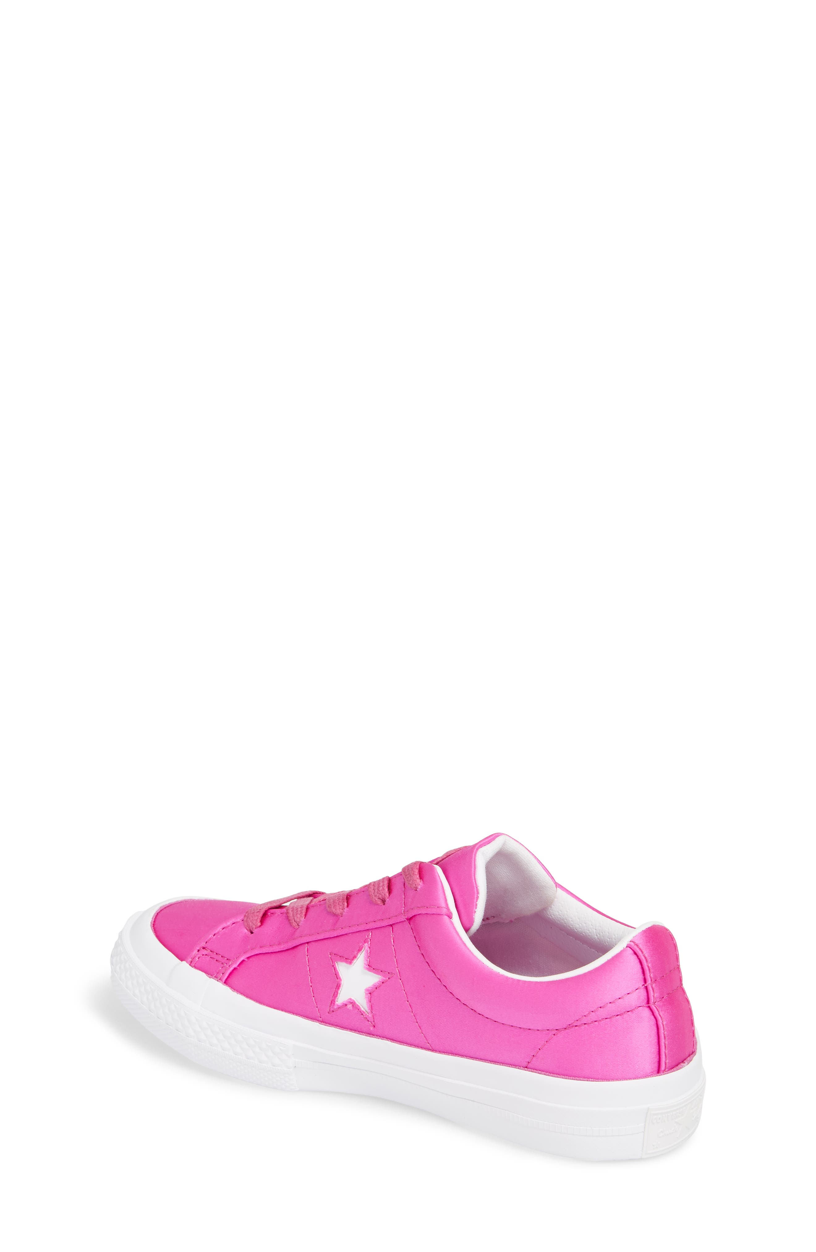 Chuck Taylor<sup>®</sup> All Star<sup>®</sup> One Star Satin Low Top Sneaker,                             Alternate thumbnail 2, color,                             Hyper Magenta