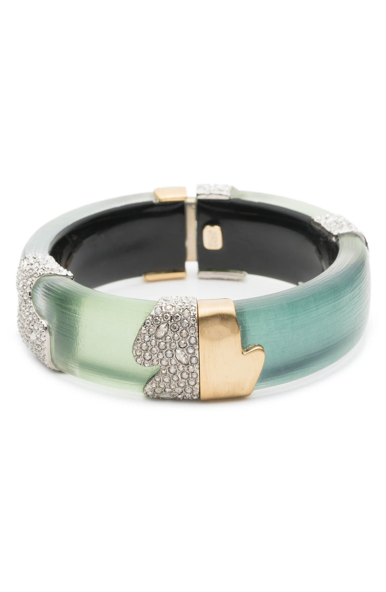 Crystal Encrusted Colorblocked Bracelet,                             Alternate thumbnail 3, color,                             Roxbury Mix