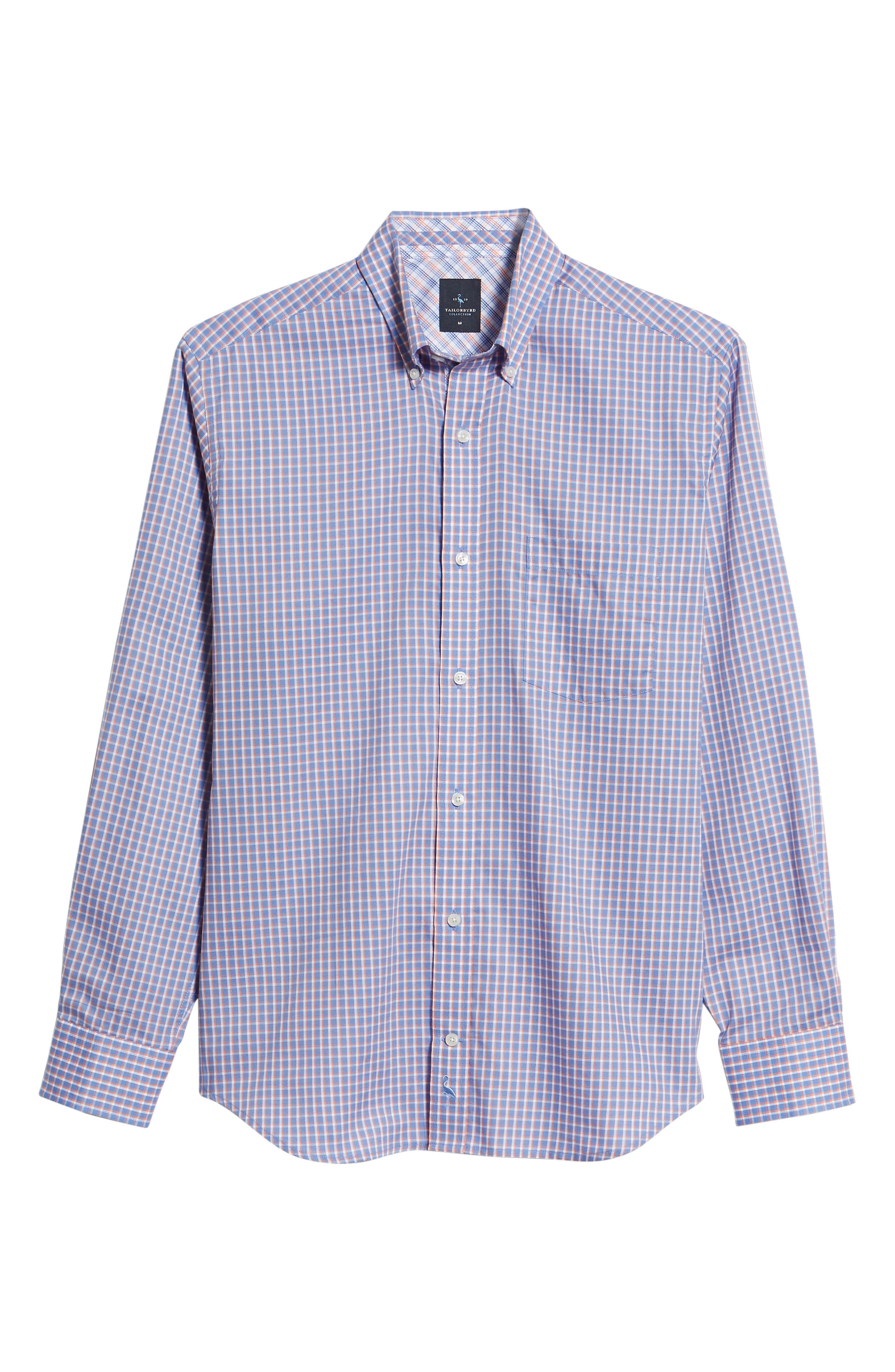 Bader Regular Fit Check Sport Shirt,                             Alternate thumbnail 6, color,                             Navy