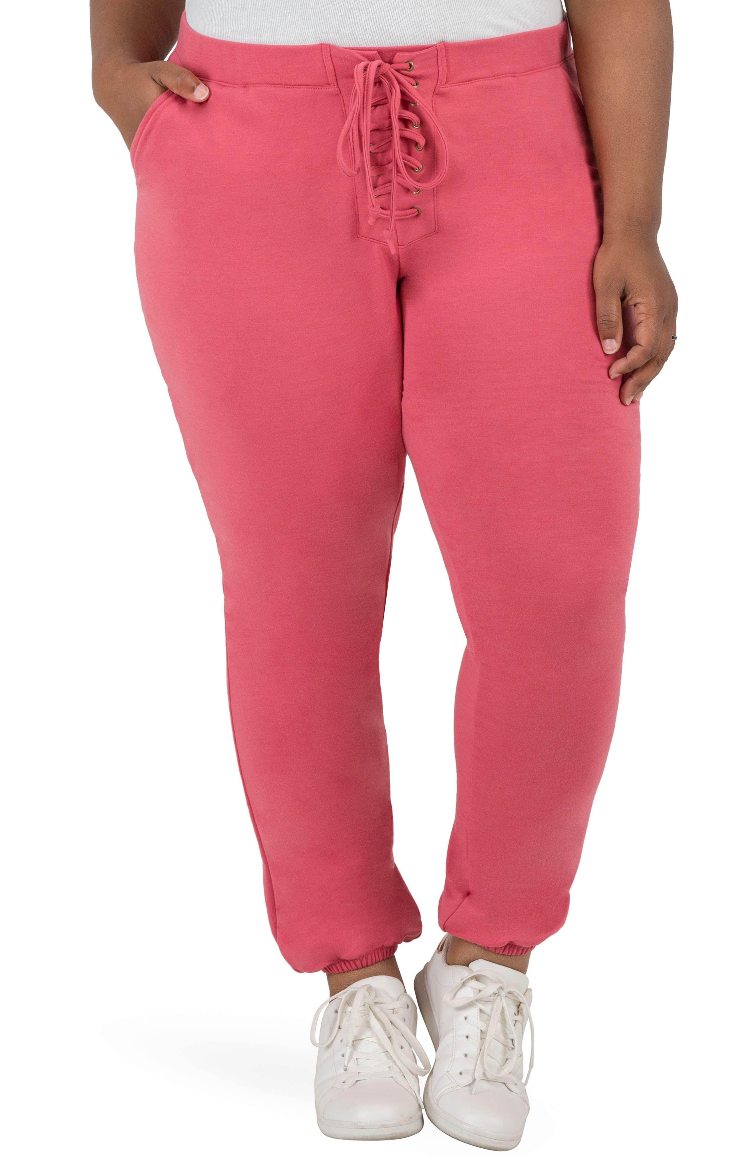 Nikki Sweatpants,                         Main,                         color, Deep Rose Pink