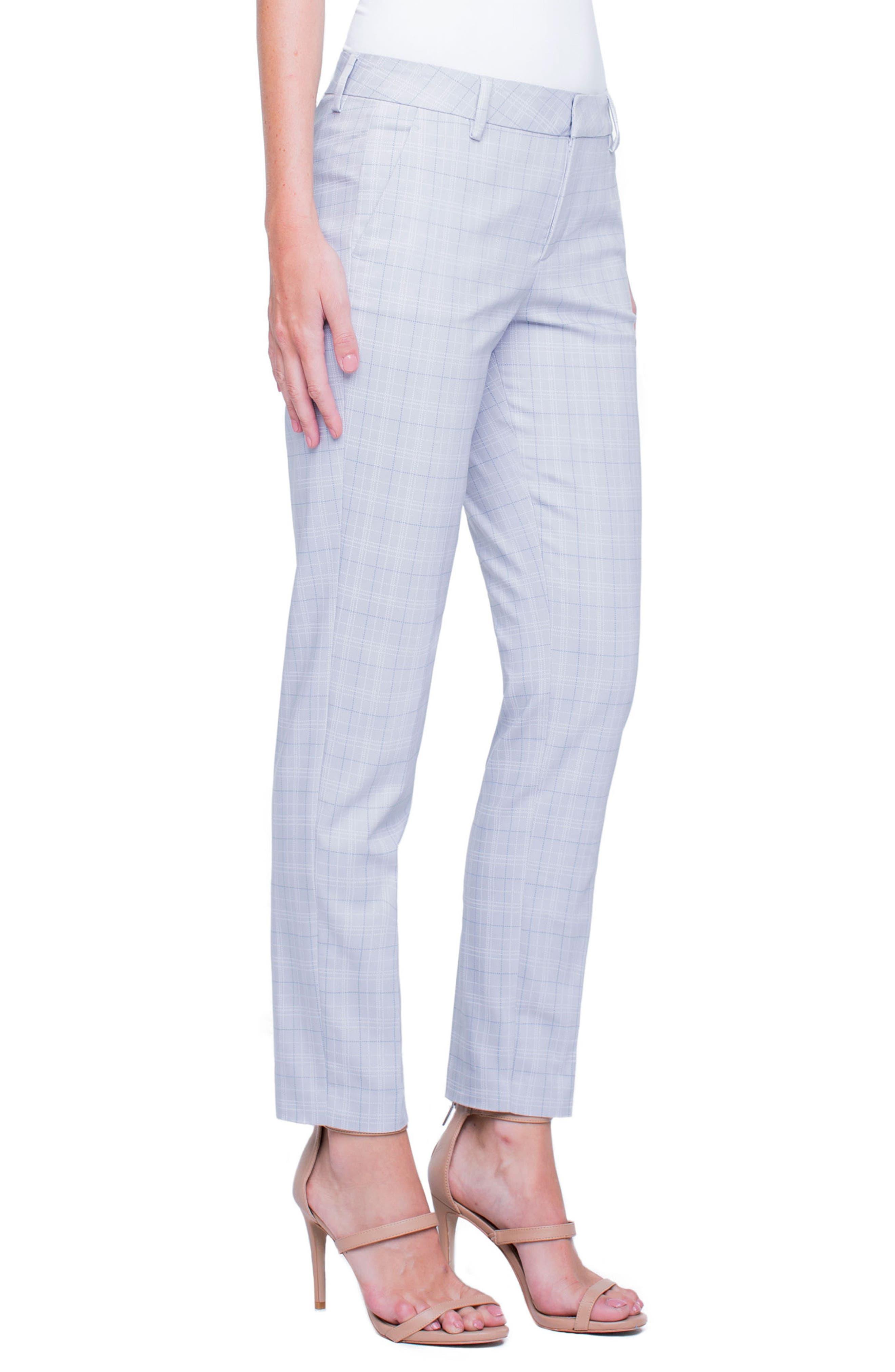 Liverpool Jeans Company Windowpane Plaid Straight Leg Trousers