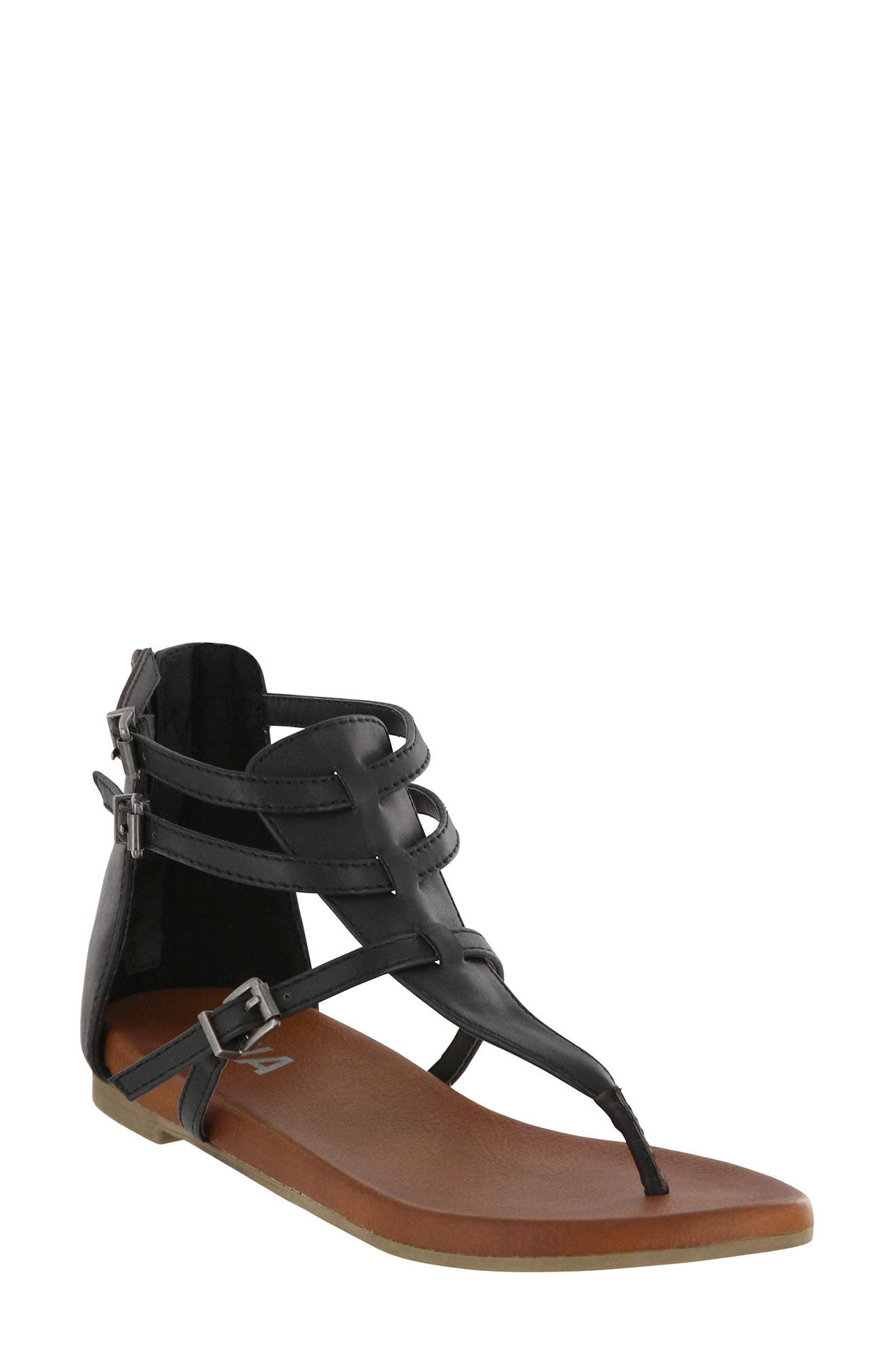 Dashiell V-Strap Sandal,                             Main thumbnail 1, color,                             Black