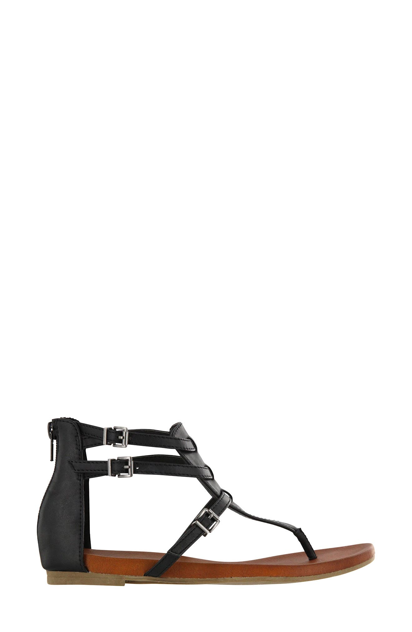 Dashiell V-Strap Sandal,                             Alternate thumbnail 3, color,                             Black