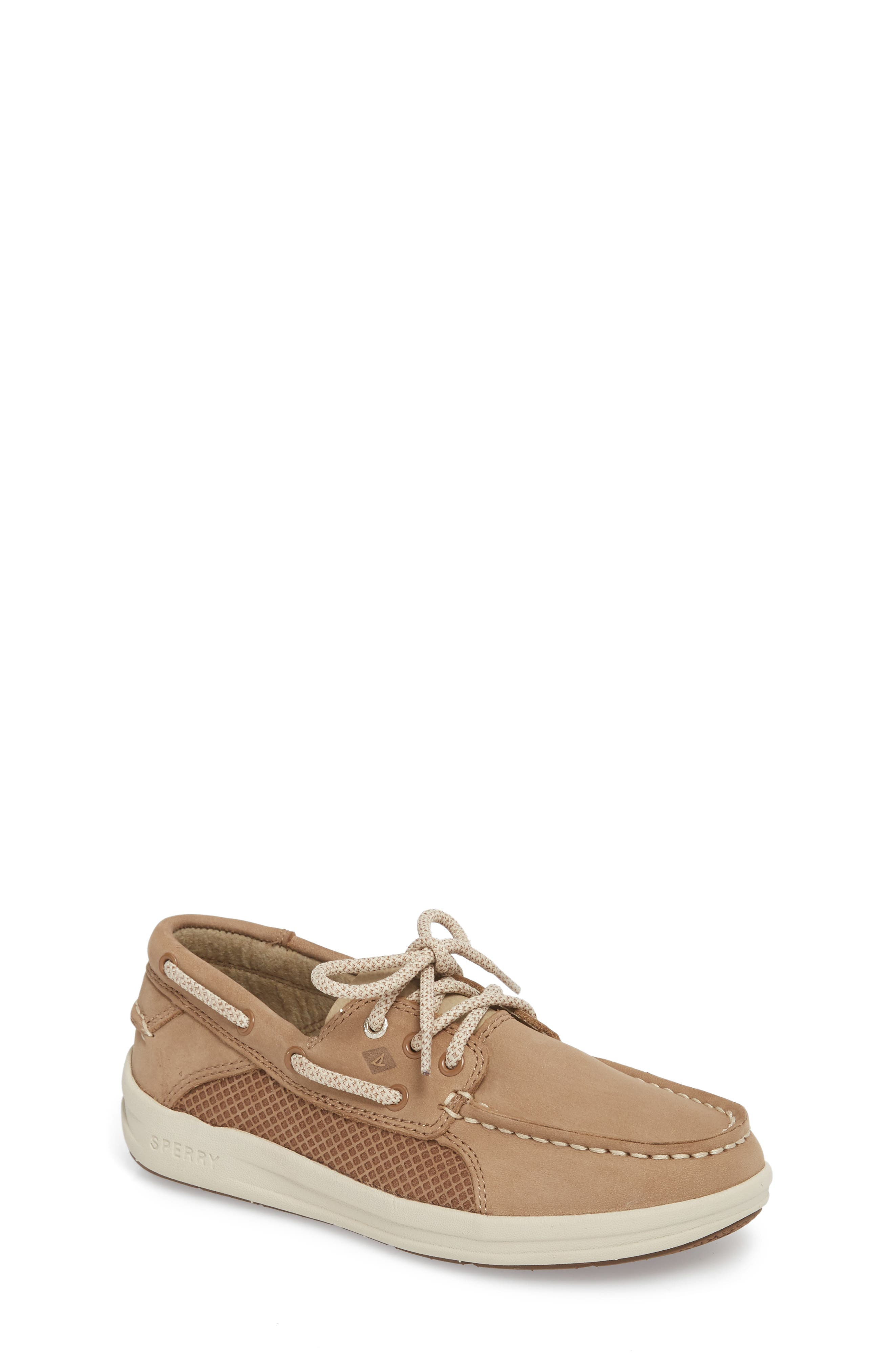 Sperry Gamefish Boat Shoe,                         Main,                         color, Light Tan Leather