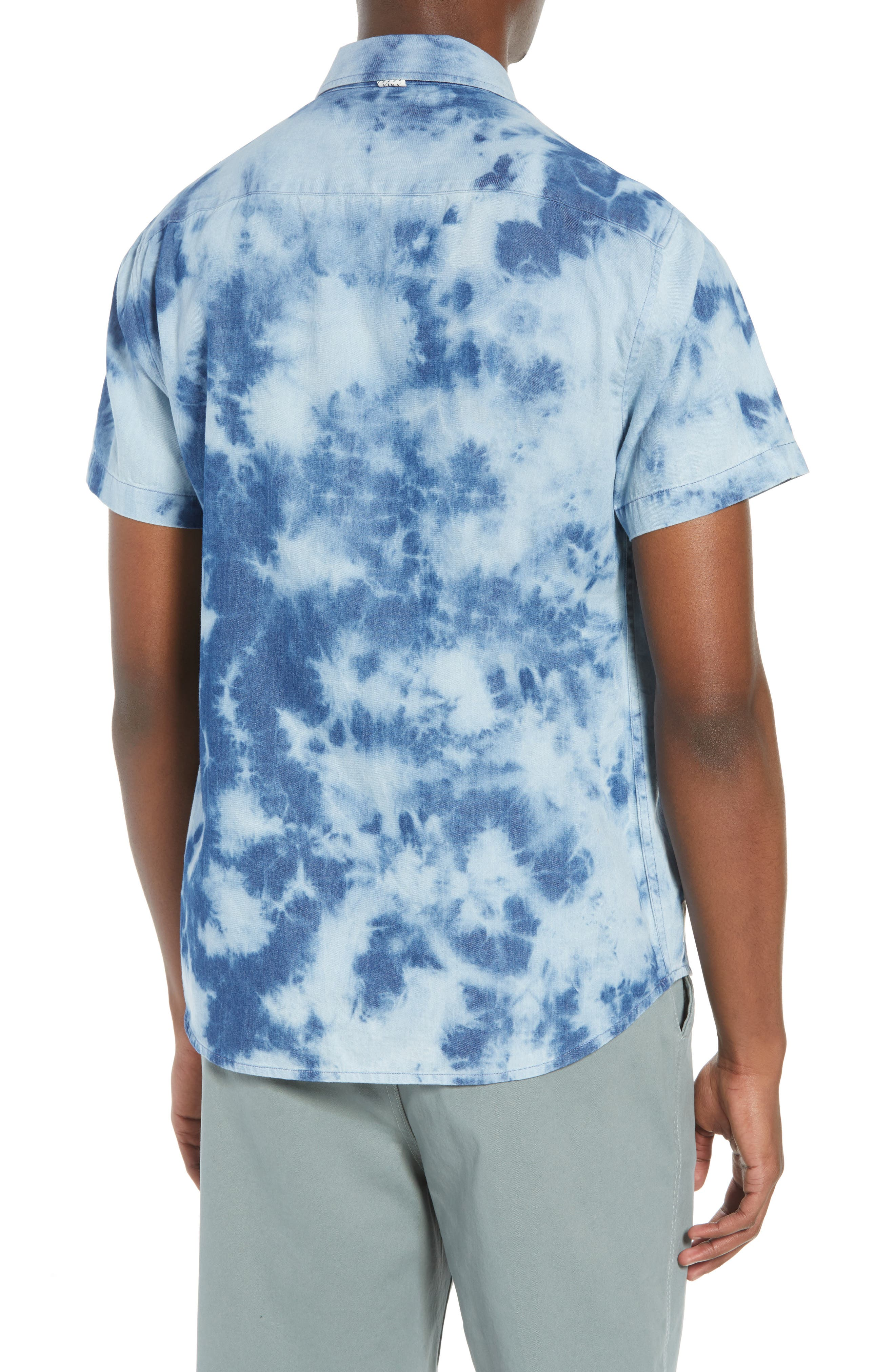 Bleacher Creature Woven Shirt,                             Alternate thumbnail 3, color,                             Blue