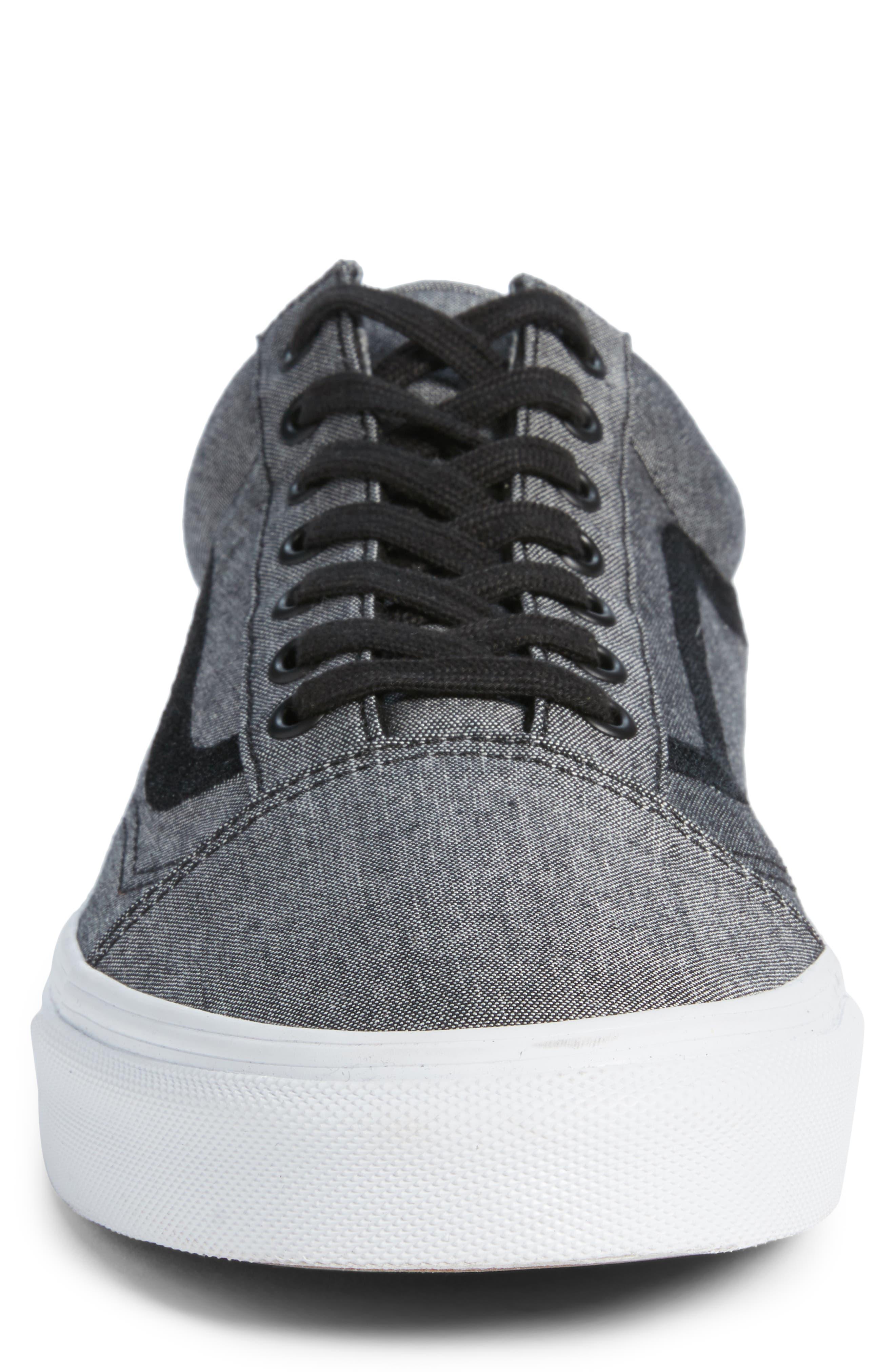 Old Skool Sneaker,                             Alternate thumbnail 4, color,                             Black/ True White/ Grey