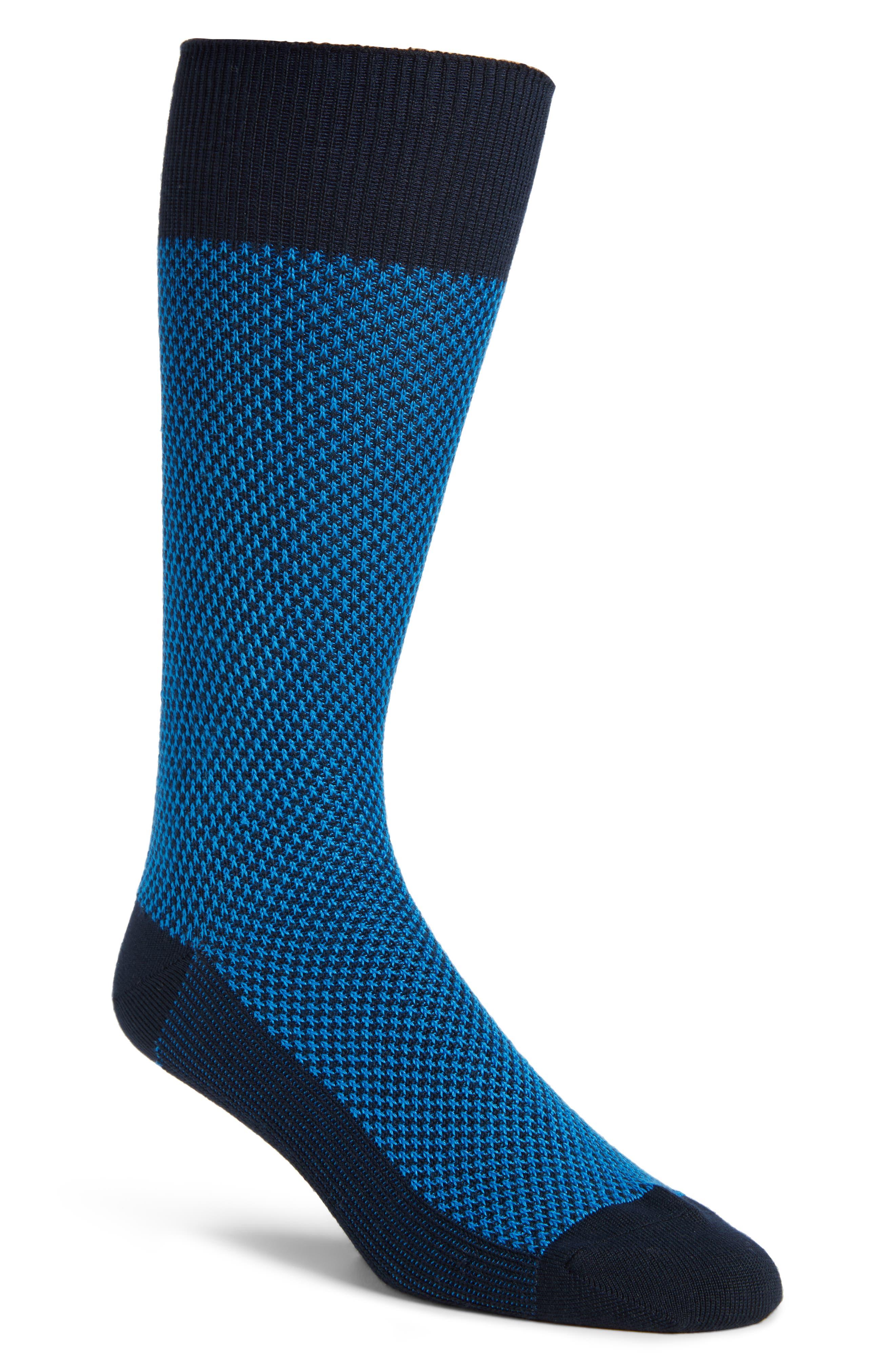 Ultra Soft Textured Socks,                         Main,                         color, Navy/ Blue