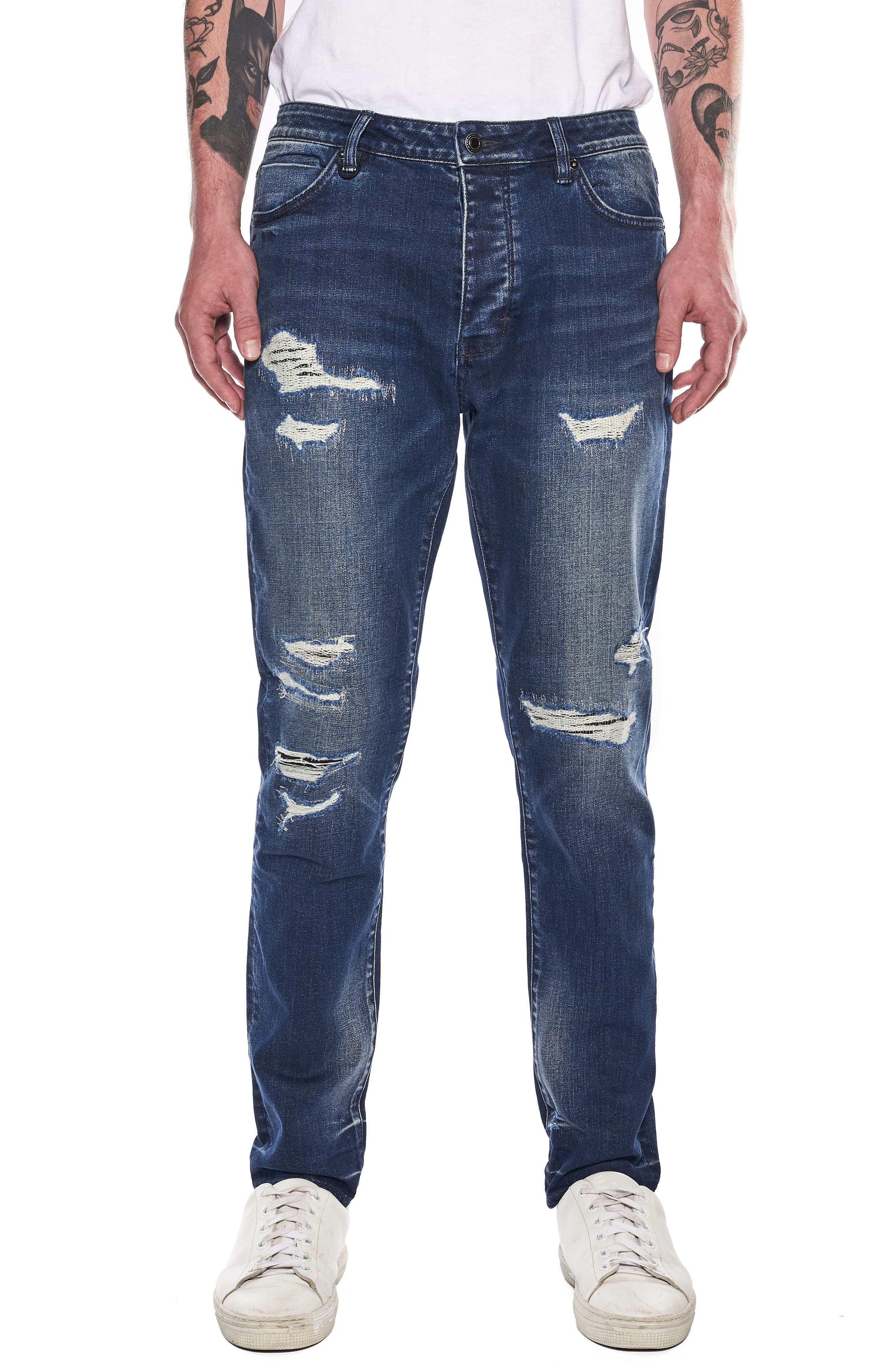 Ray Slouchy Slim Fit Jeans,                             Main thumbnail 1, color,                             Ink Repair