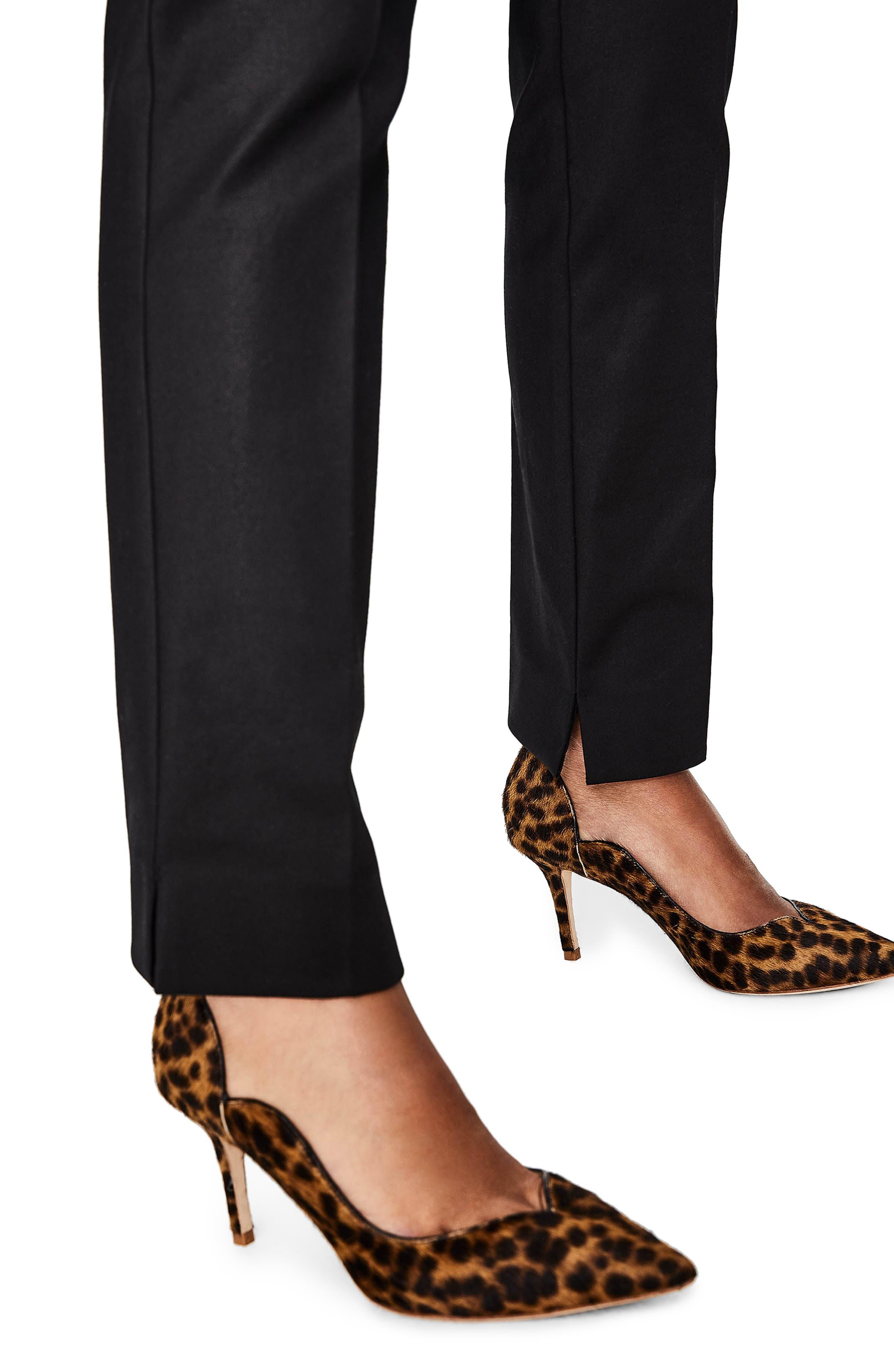 Richmond Stretch Cotton Trousers,                             Alternate thumbnail 3, color,                             Black