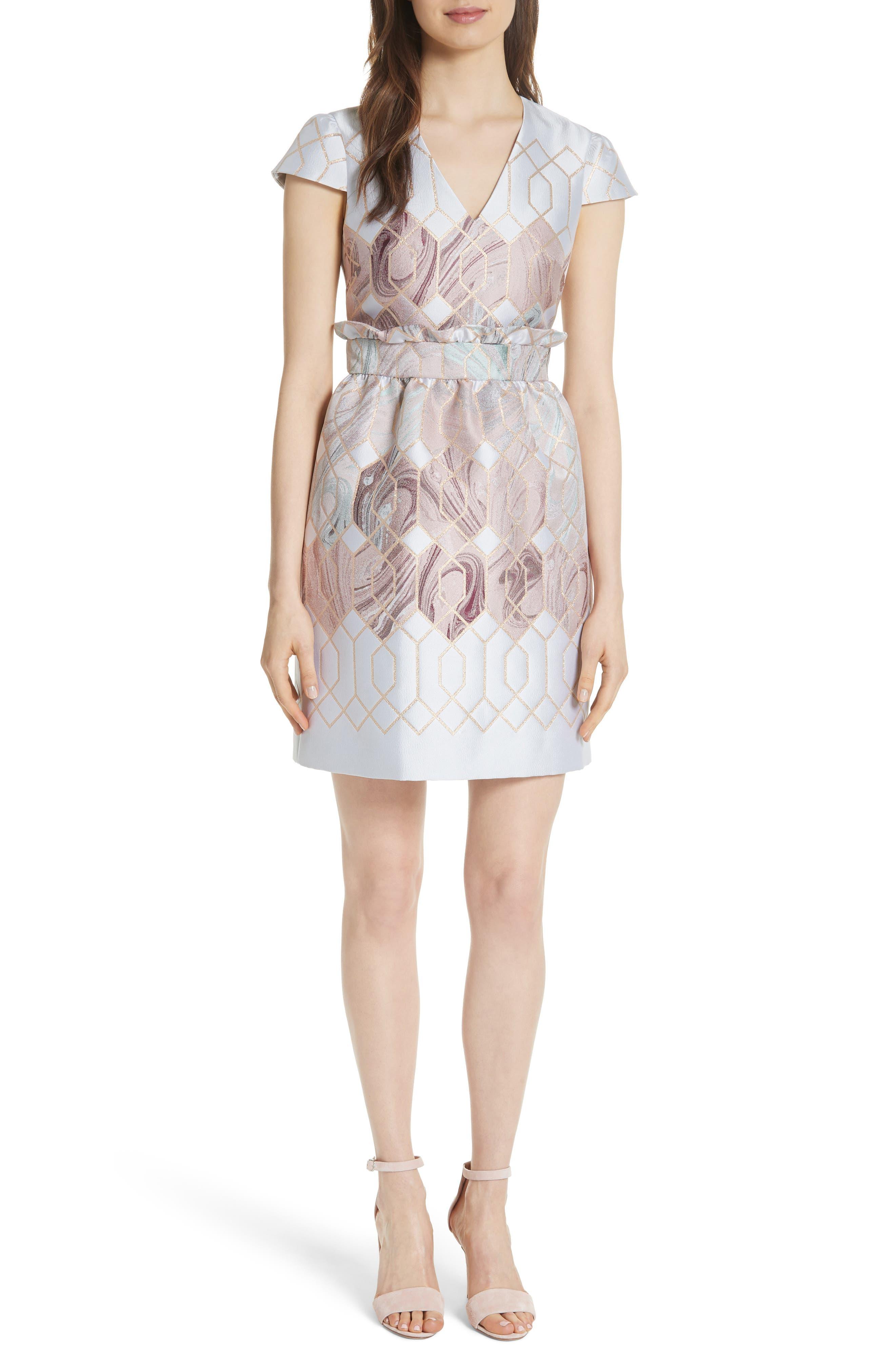 Ingrida Sea of Clouds Tulip Dress,                         Main,                         color, White