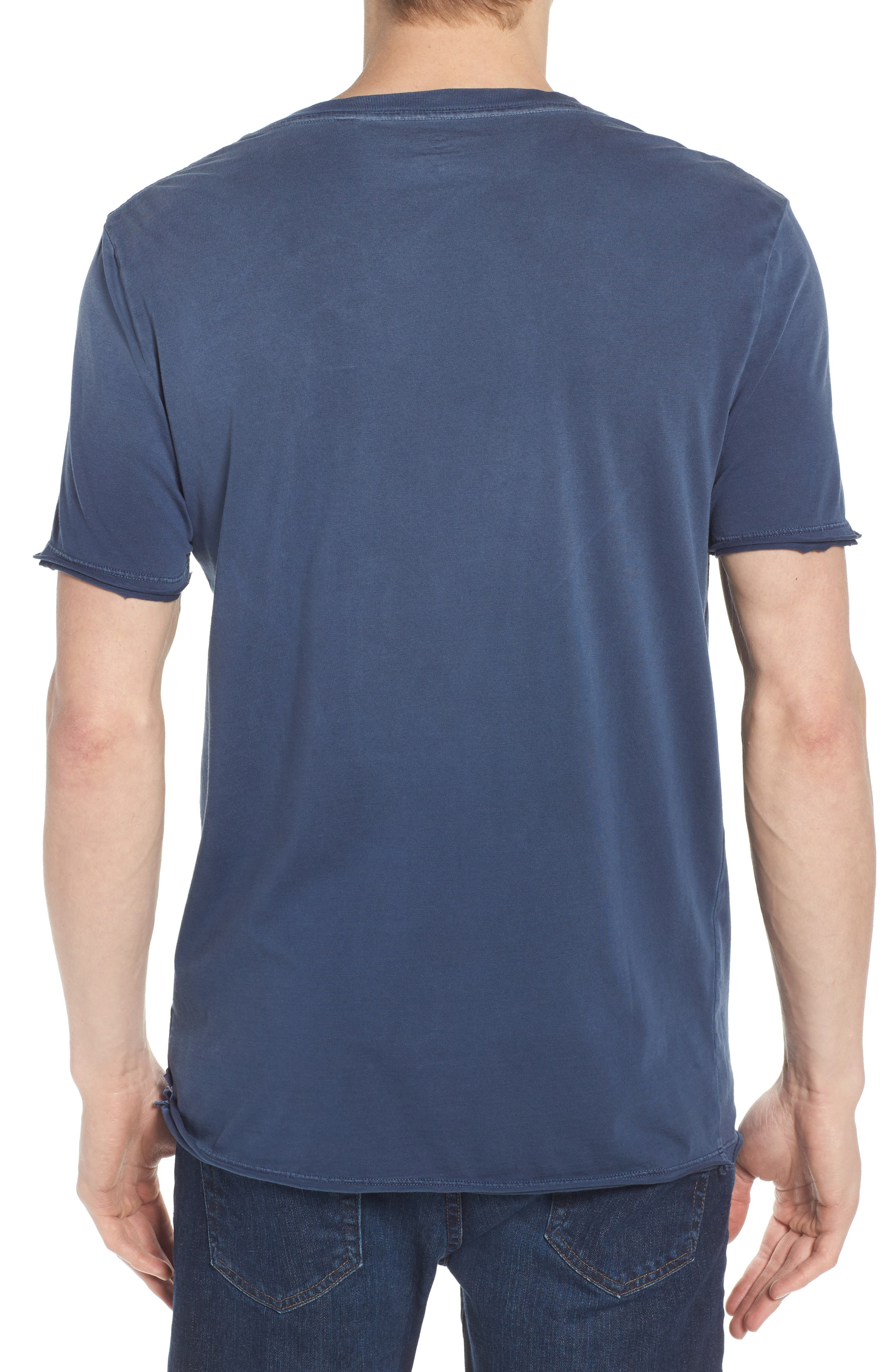 Anders Slim Fit Pocket T-Shirt,                             Alternate thumbnail 2, color,                             Sun Faded Blue Plume