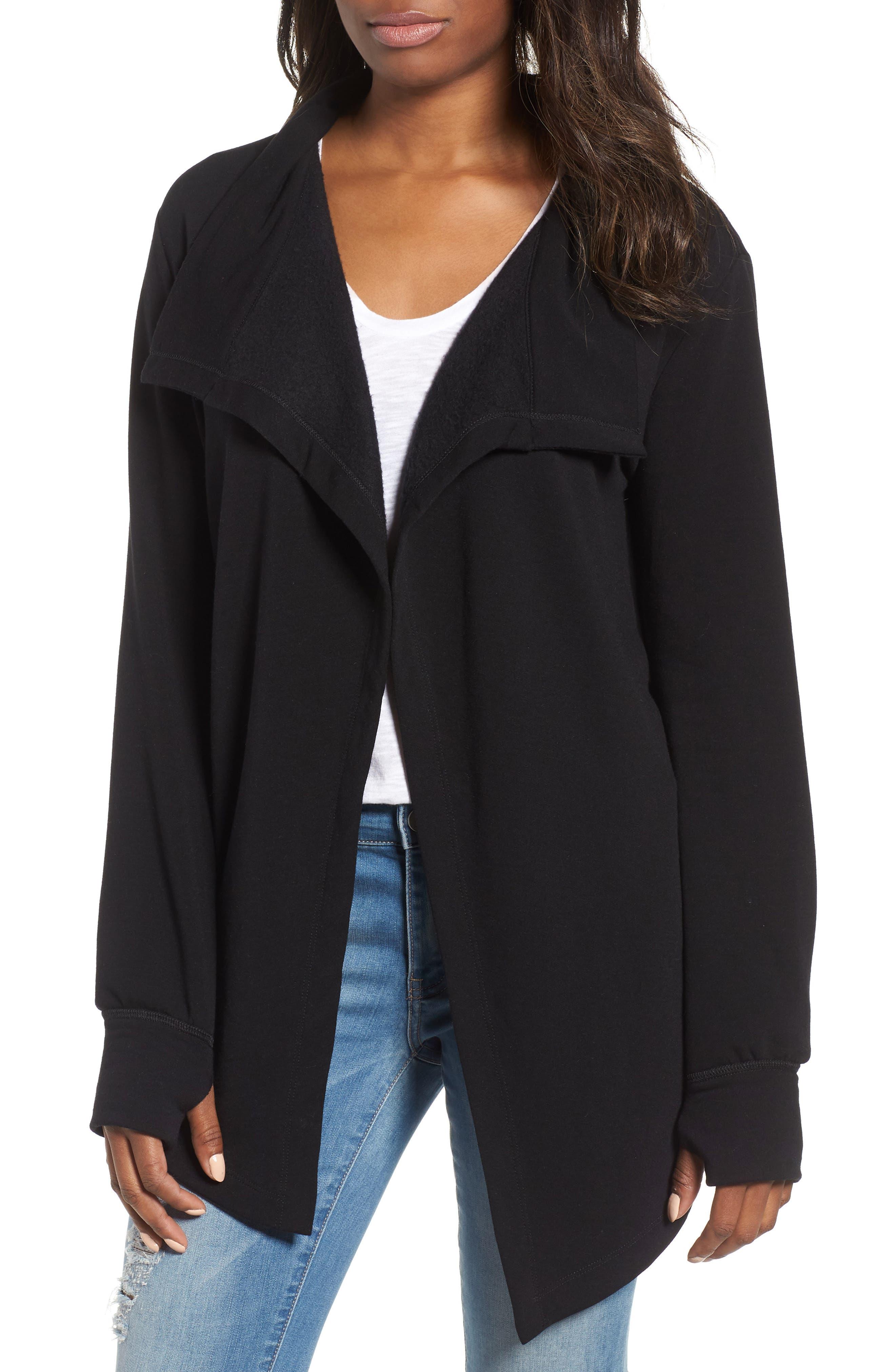 Caslon® Off-Duty Fleece Knit Cardigan