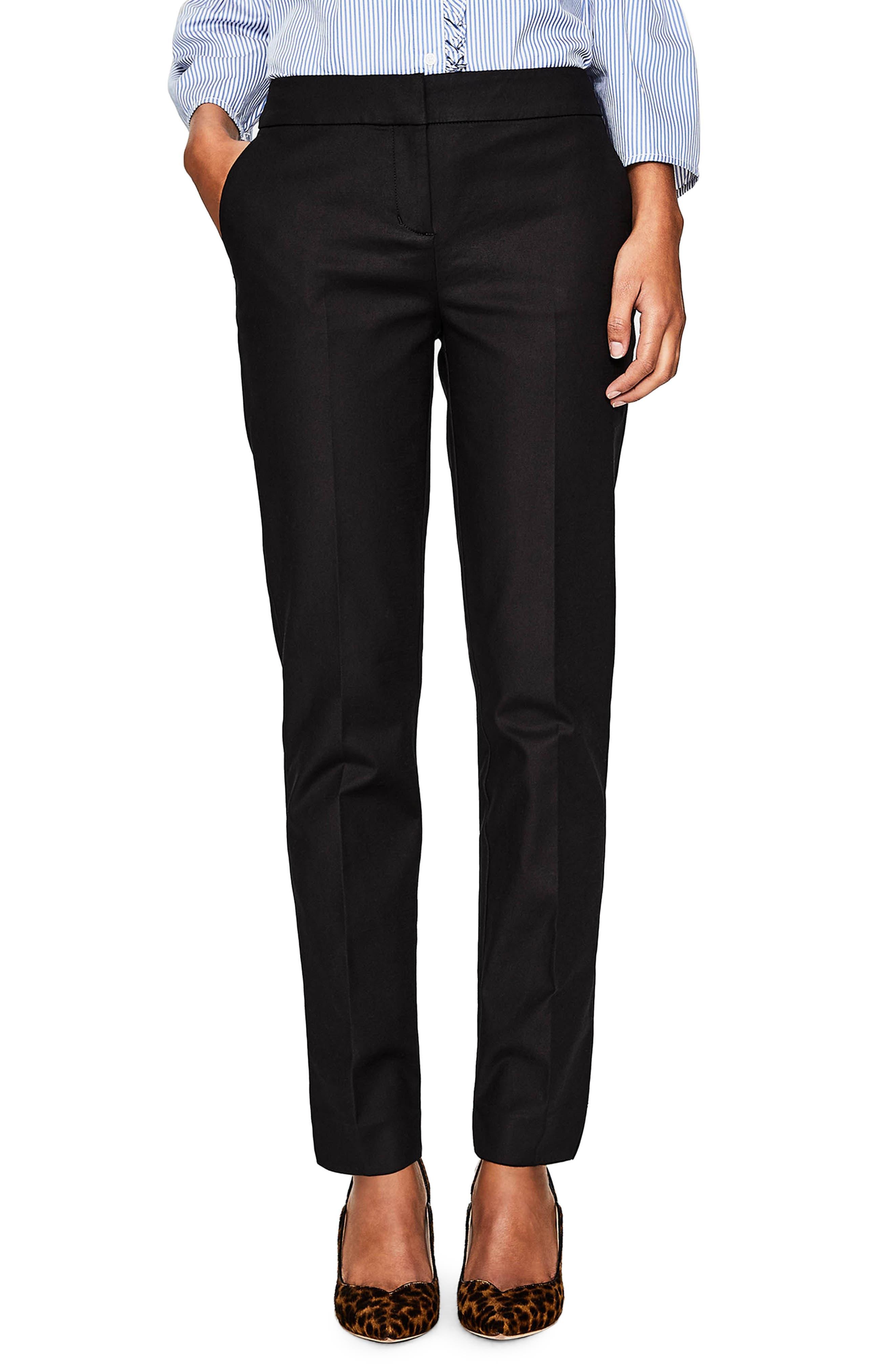 Richmond Stretch Cotton Trousers,                             Main thumbnail 1, color,                             Black