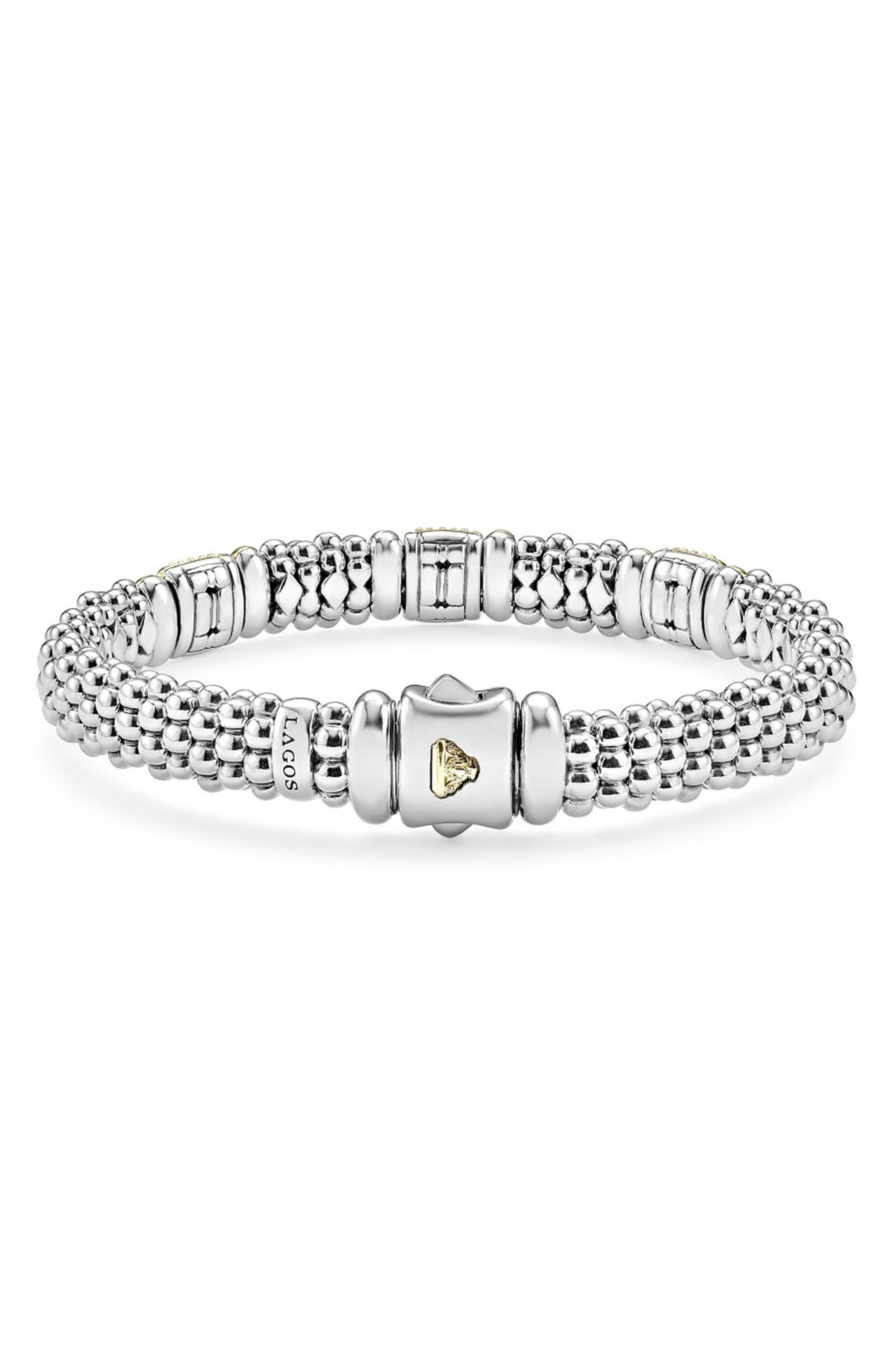 Alternate Image 2  - LAGOS 'Caviar' Diamond Station Bracelet