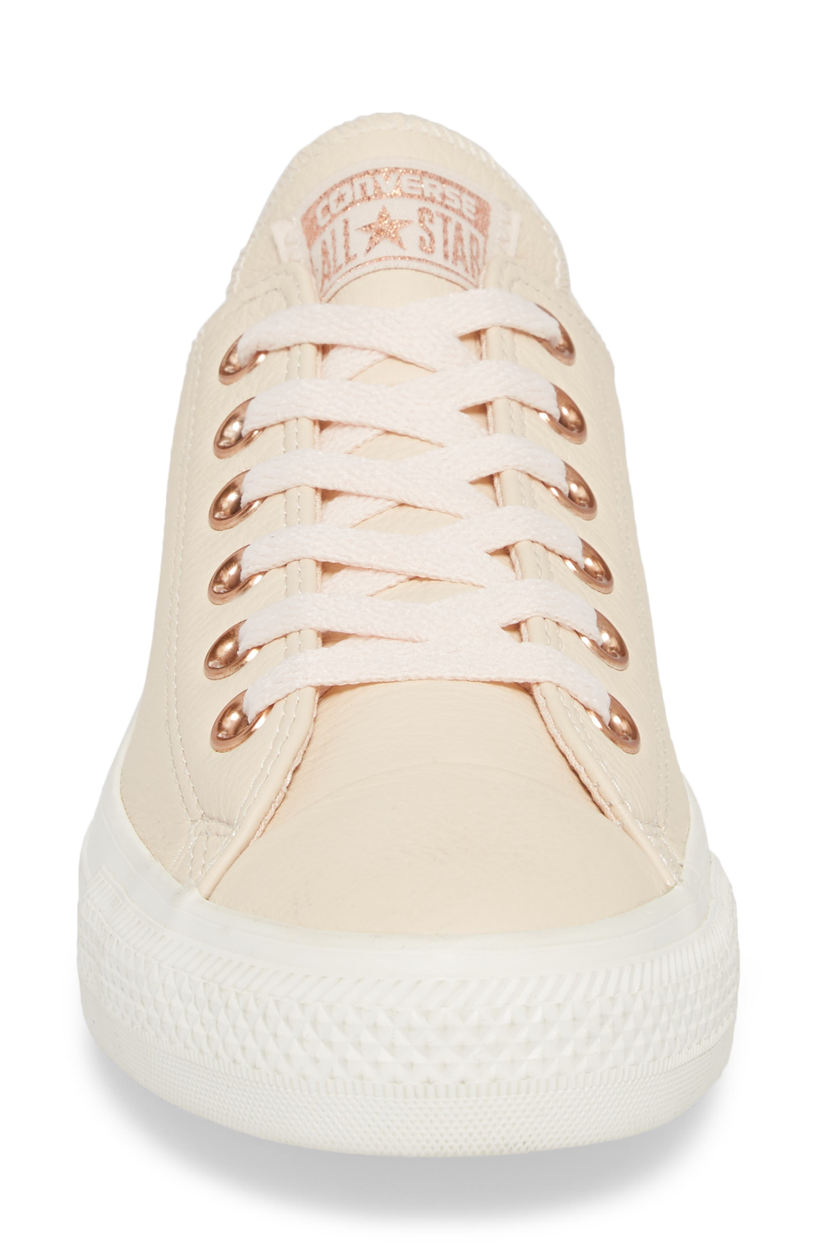Chuck Taylor<sup>®</sup> All Star<sup>®</sup> Seasonal Ox Low Top Sneaker,                             Alternate thumbnail 4, color,                             Pastel Rose Leather