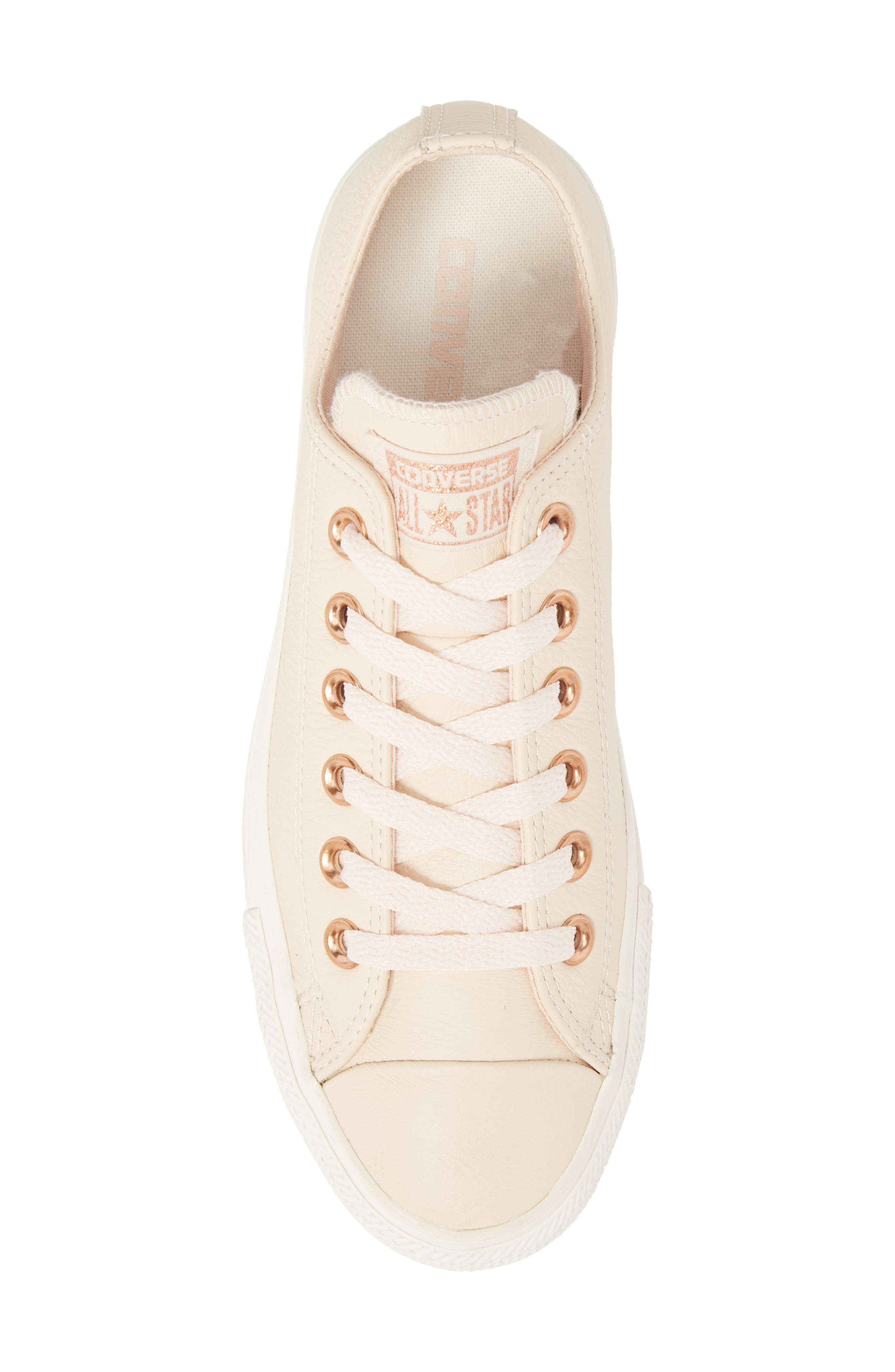 Chuck Taylor<sup>®</sup> All Star<sup>®</sup> Seasonal Ox Low Top Sneaker,                             Alternate thumbnail 5, color,                             Pastel Rose Leather