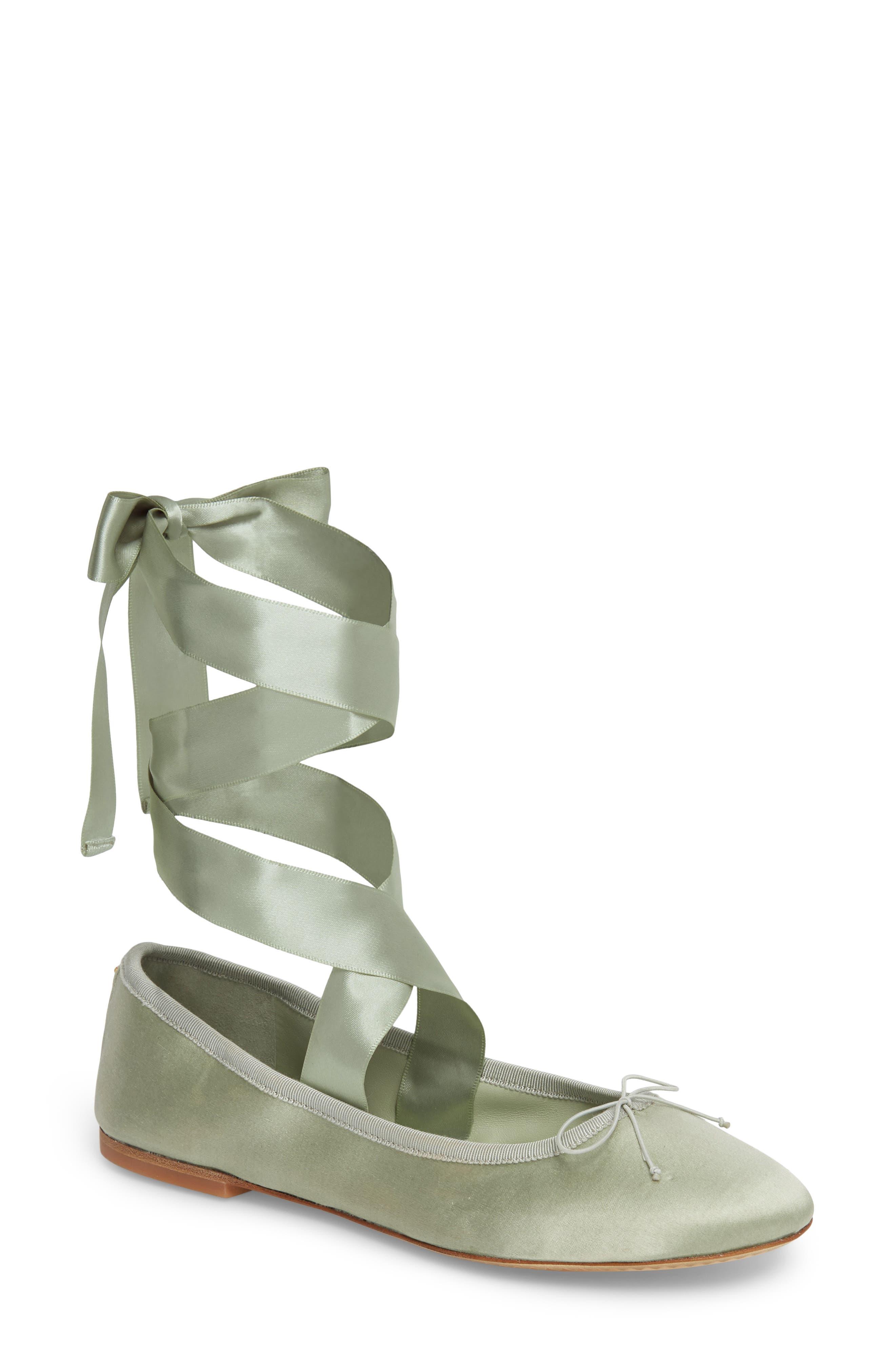 Tory Burch Elodie Lace-Up Ballet Flat (Women)