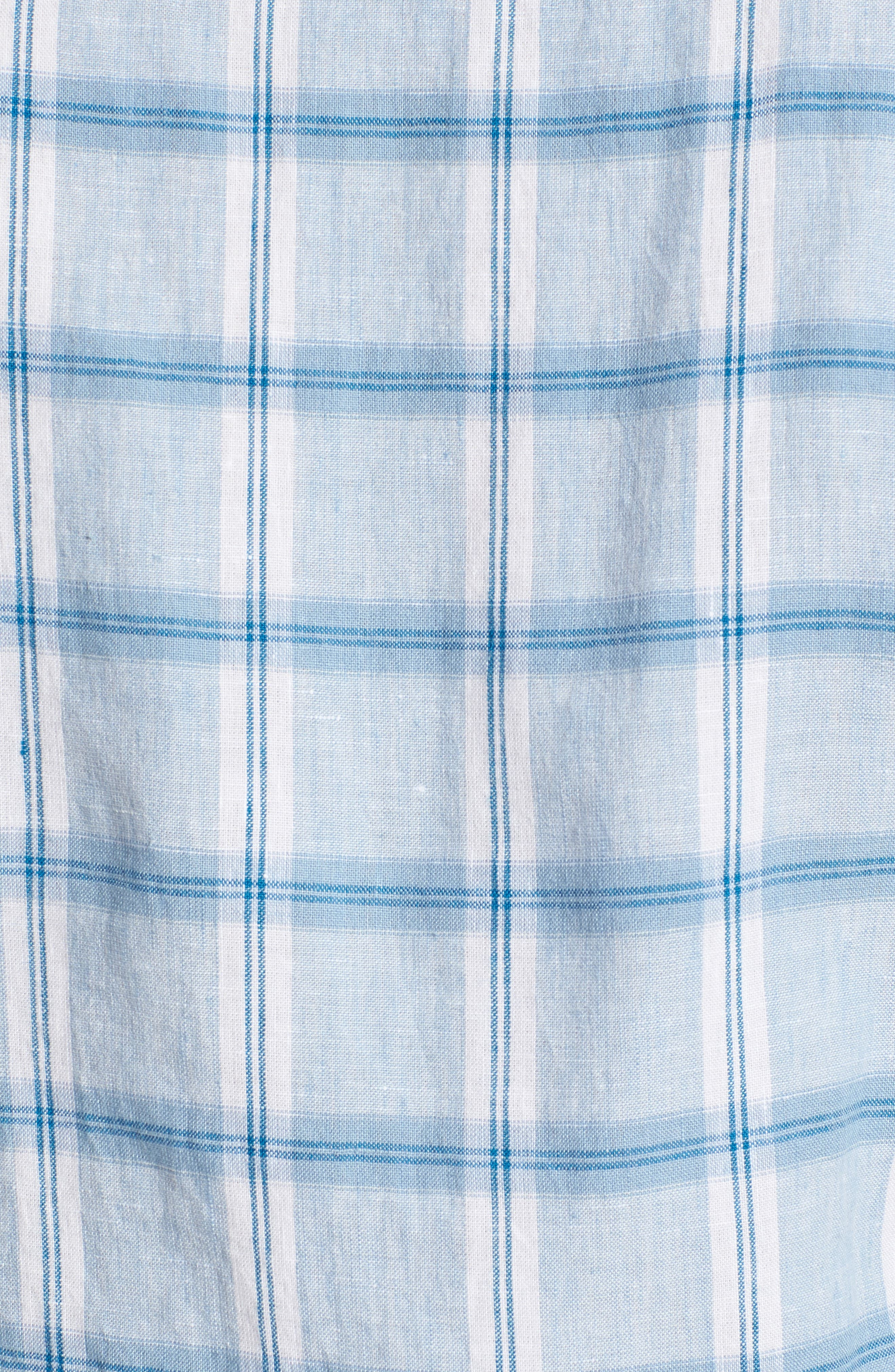 Alternate Image 5  - Bonobos Slim Fit Plaid Linen & Cotton Sport Shirt