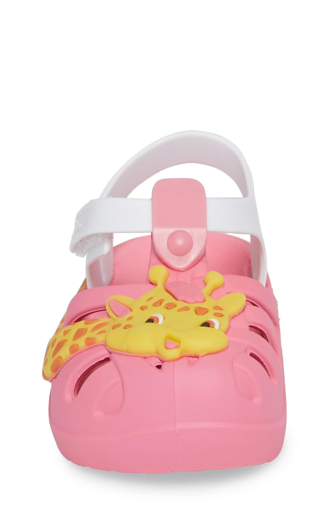 Summer Baby Waterproof Sandal,                             Alternate thumbnail 4, color,                             Pink/ White