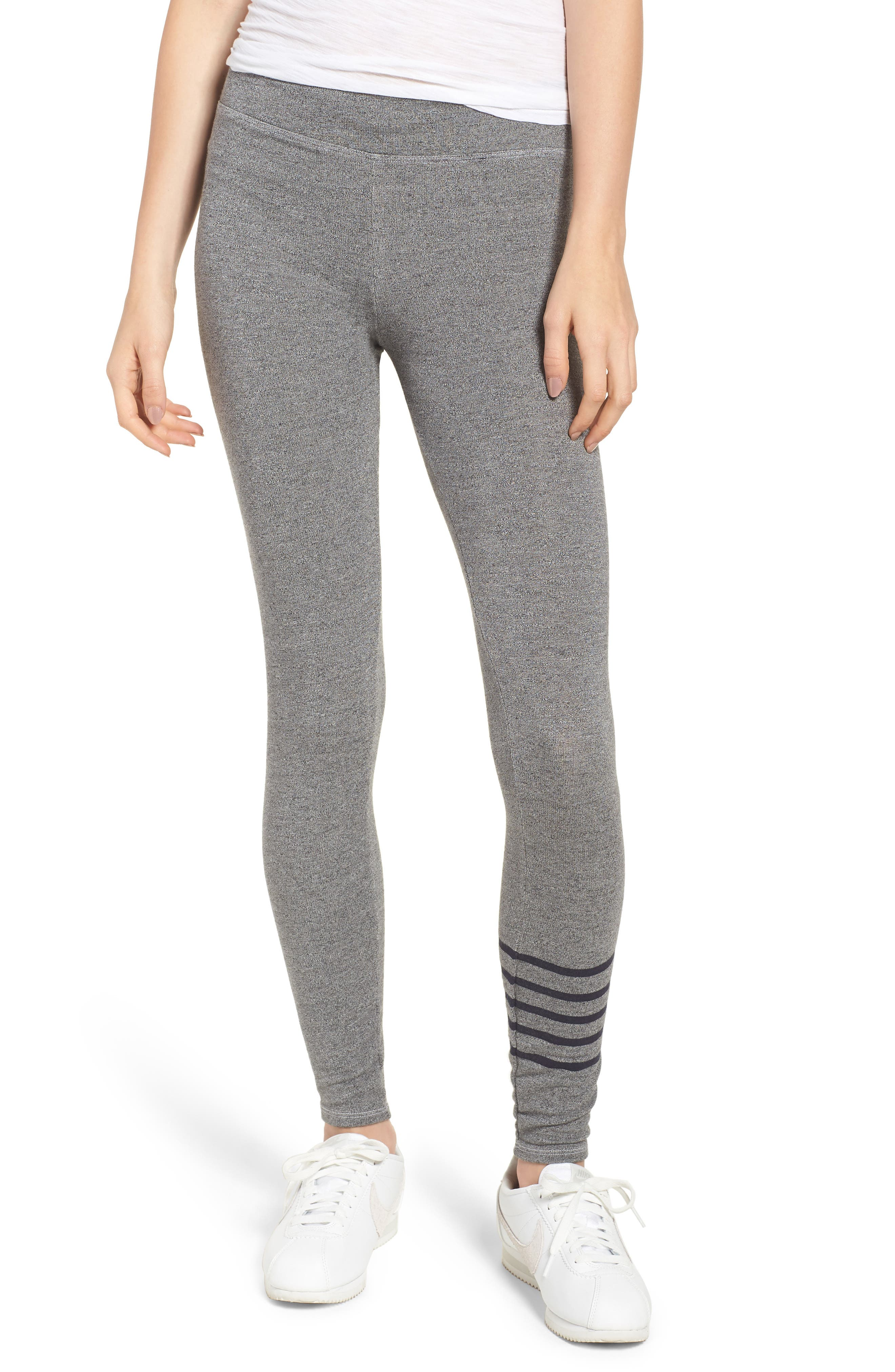Stripe Yoga Pants,                         Main,                         color, Heather Grey