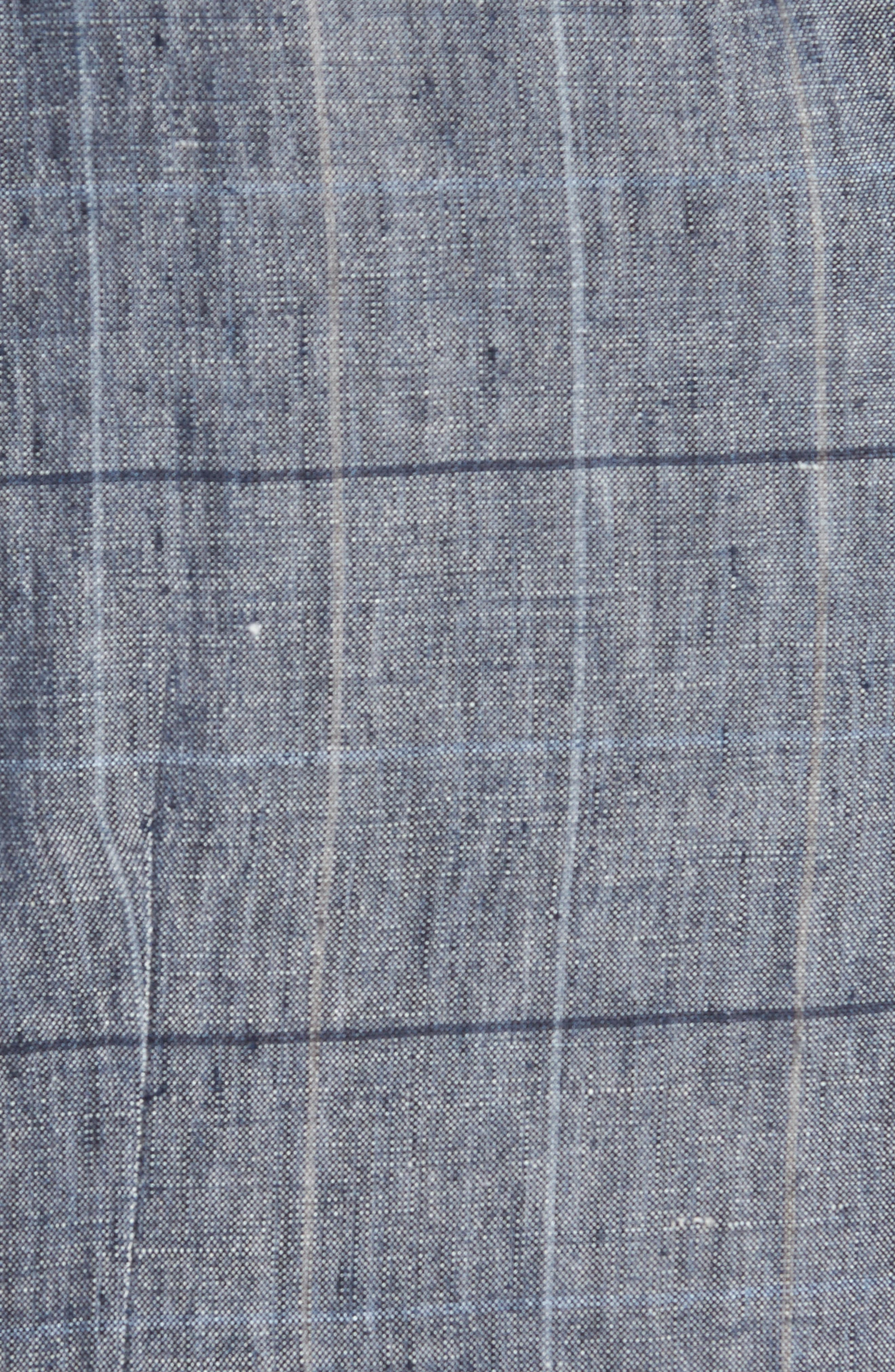 Stag Trim Fit Windowpane Linen Vest,                             Alternate thumbnail 5, color,                             Blue Graphite