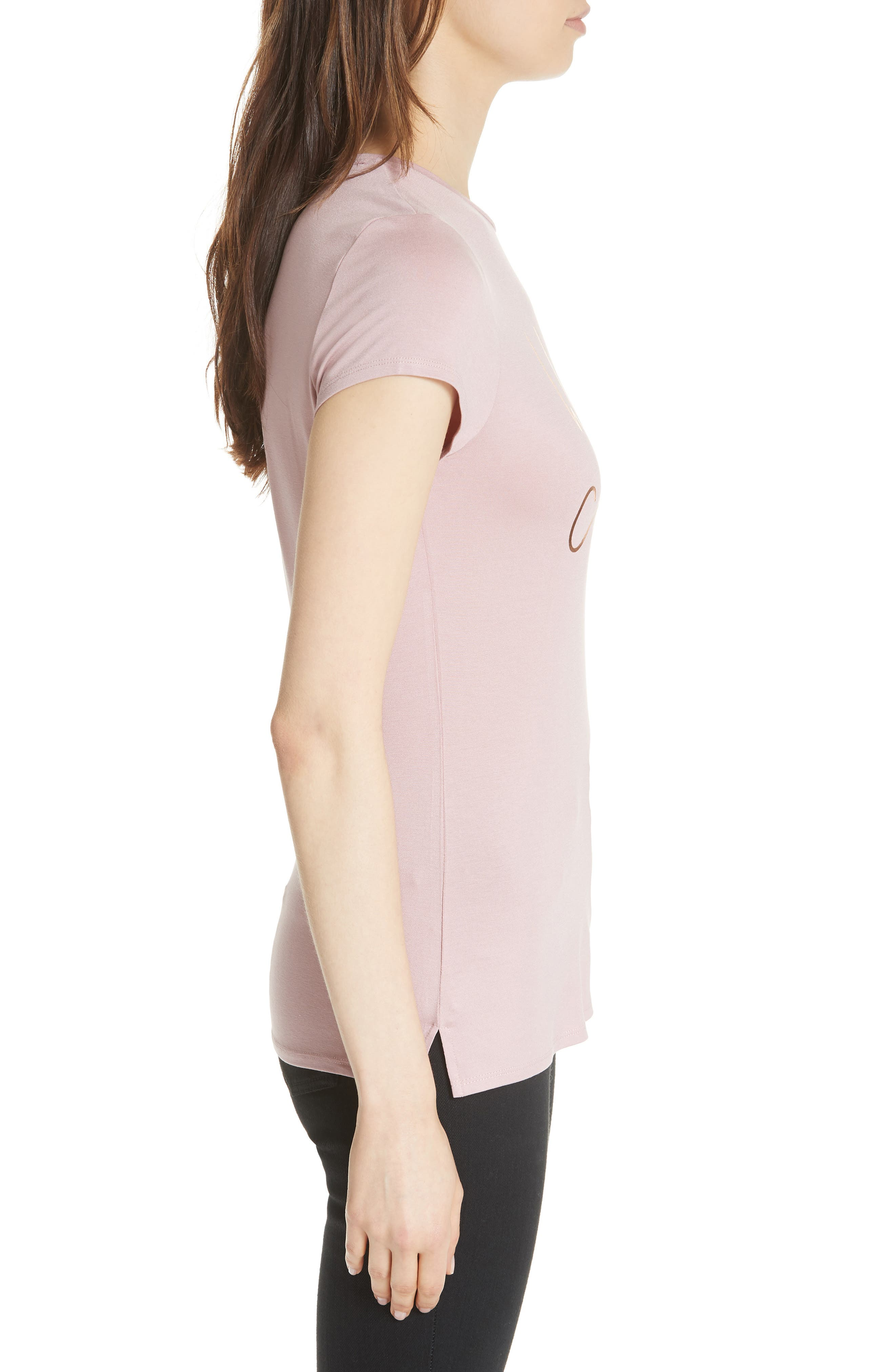 Wake Me for Champagne Tee,                             Alternate thumbnail 3, color,                             Dusky Pink