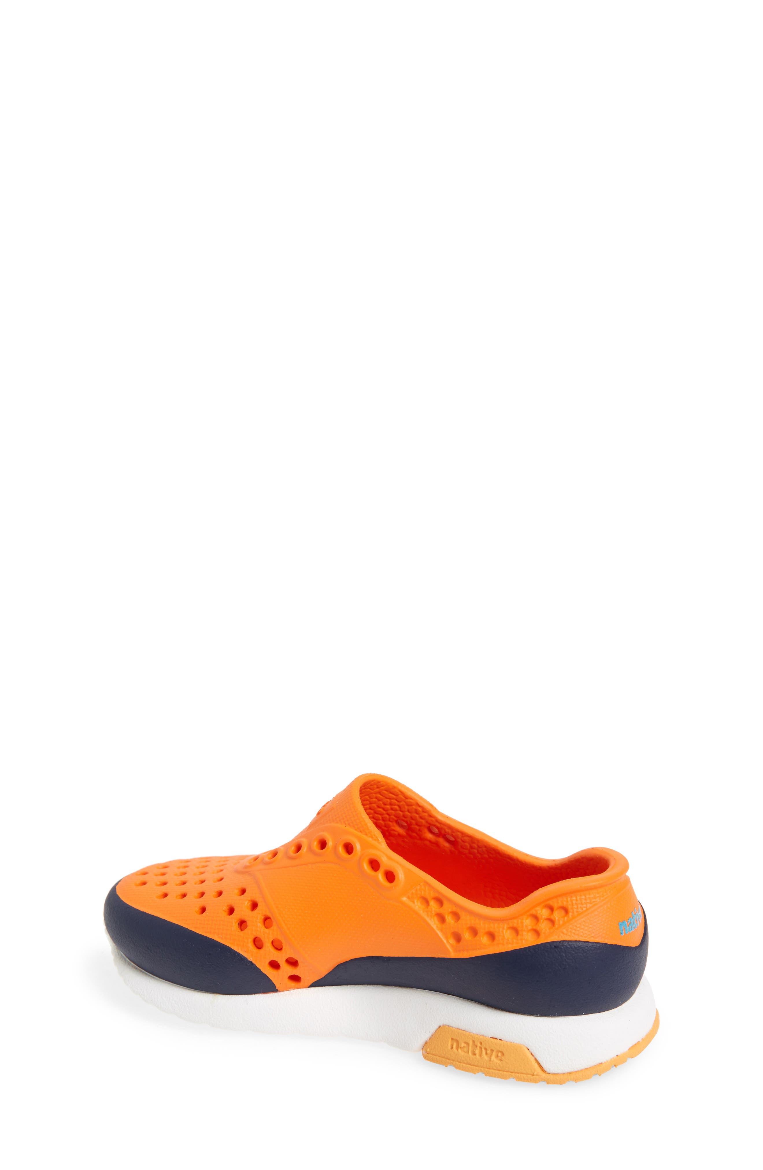 Lennox Block Slip-On Sneaker,                             Alternate thumbnail 2, color,                             Sunset Orange/ White/ Blue