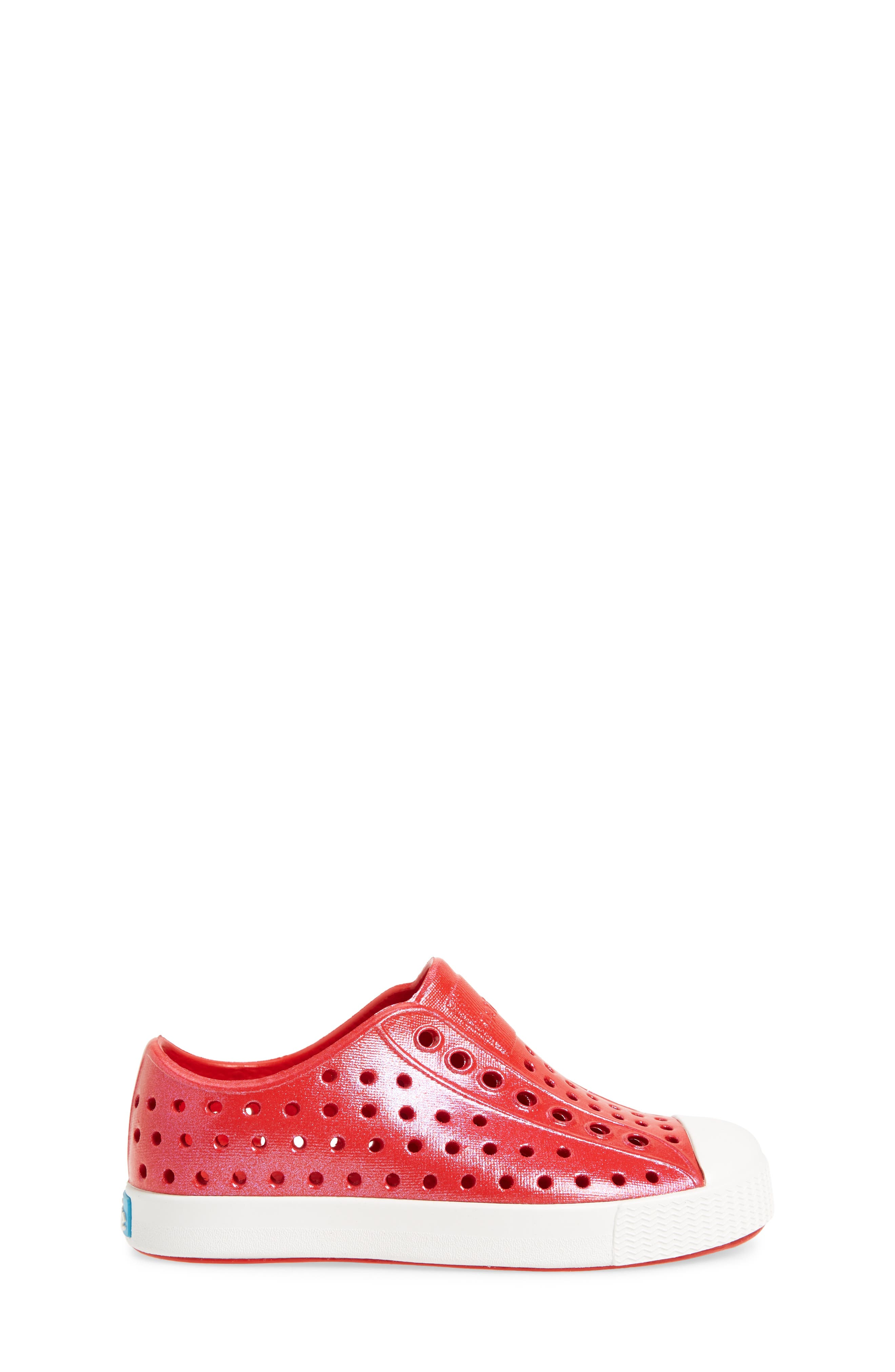 'Jefferson' Iridescent Slip-On Sneaker,                             Alternate thumbnail 3, color,                             Torch Red/ Shell White/ Galaxy