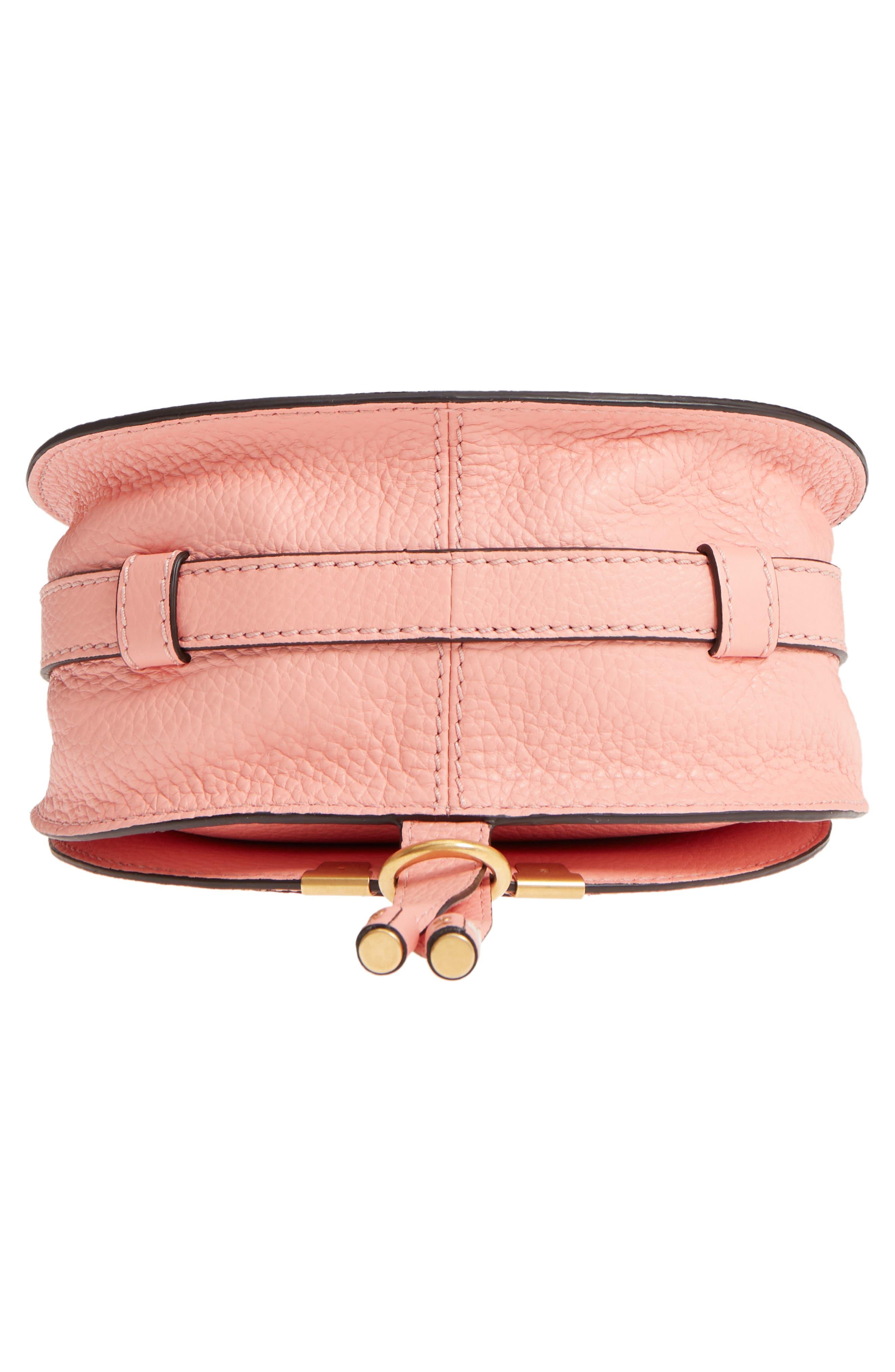'Mini Marcie' Leather Crossbody Bag,                             Alternate thumbnail 6, color,                             Ideal Blush