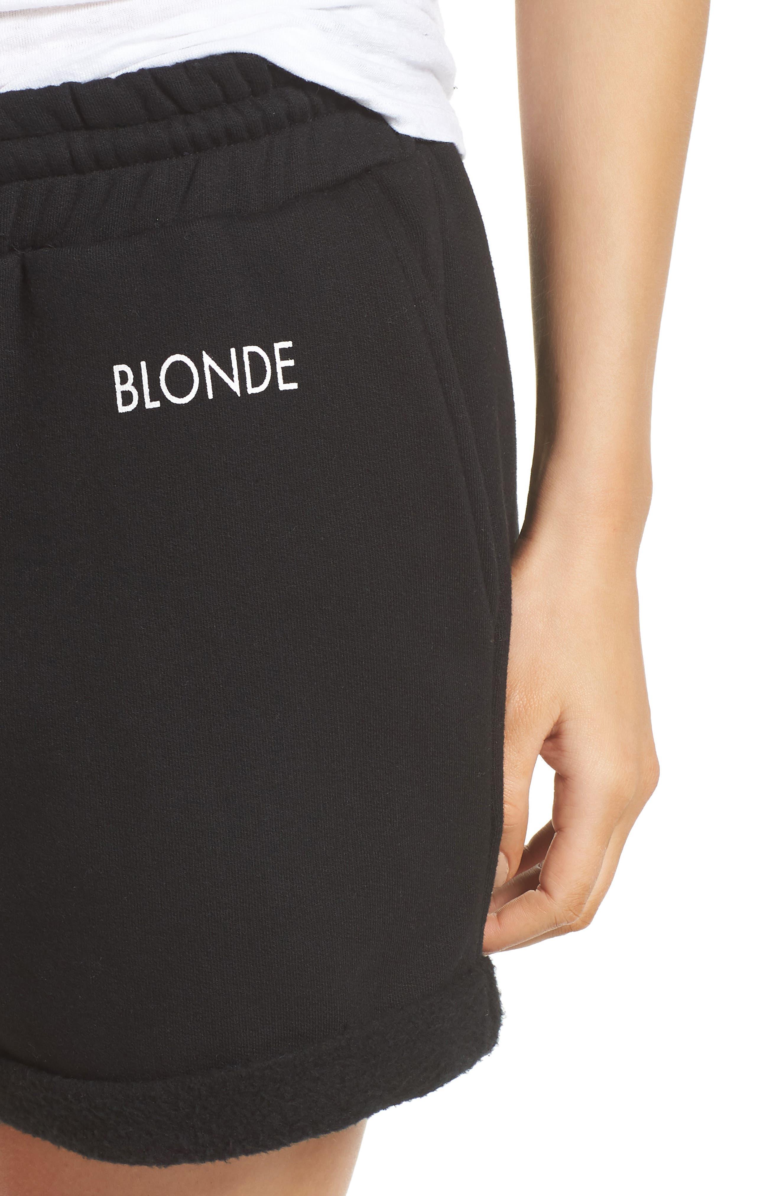 Blonde Lounge Shorts,                             Alternate thumbnail 5, color,                             Black